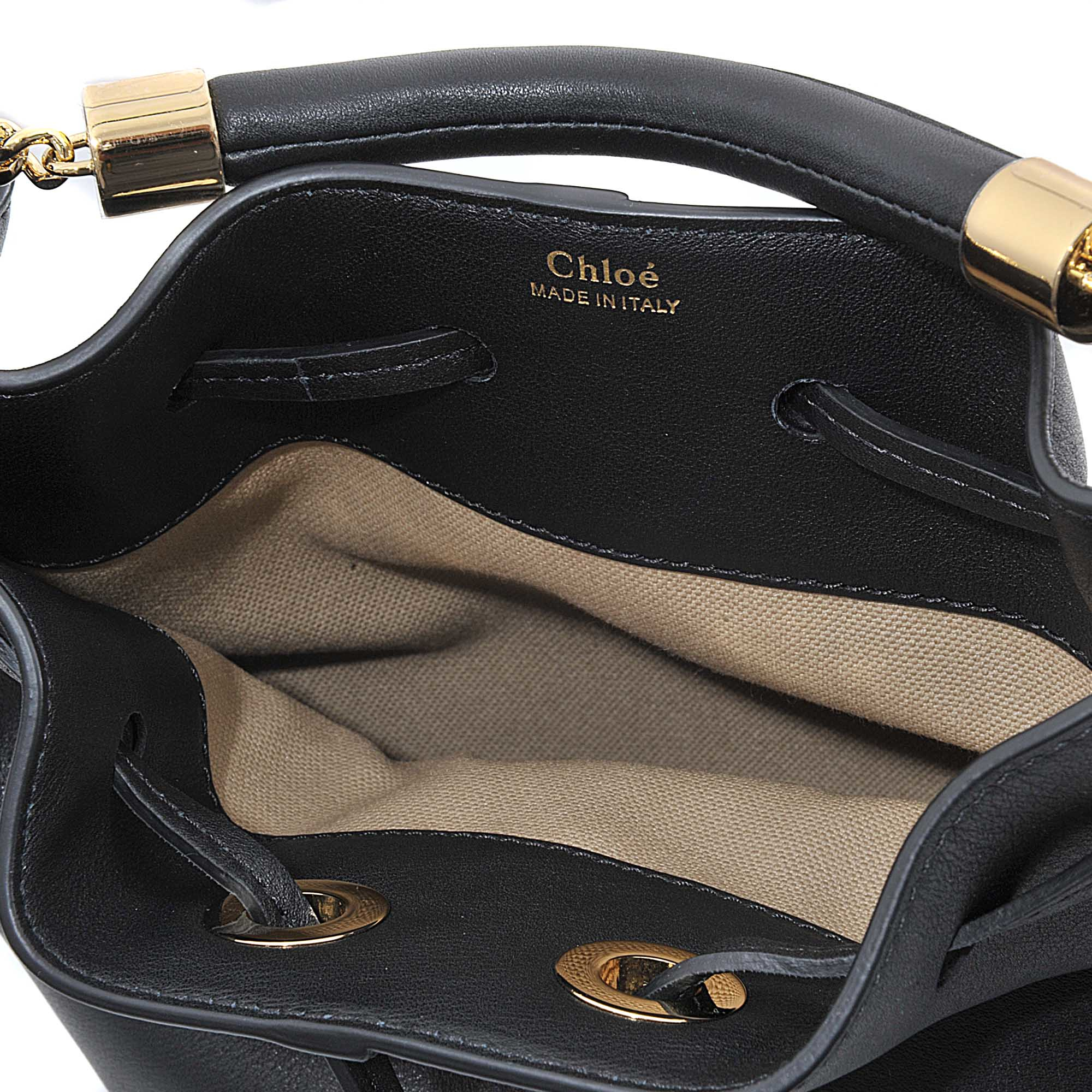 chloe bags - small gala bucket bag in smooth calfskin