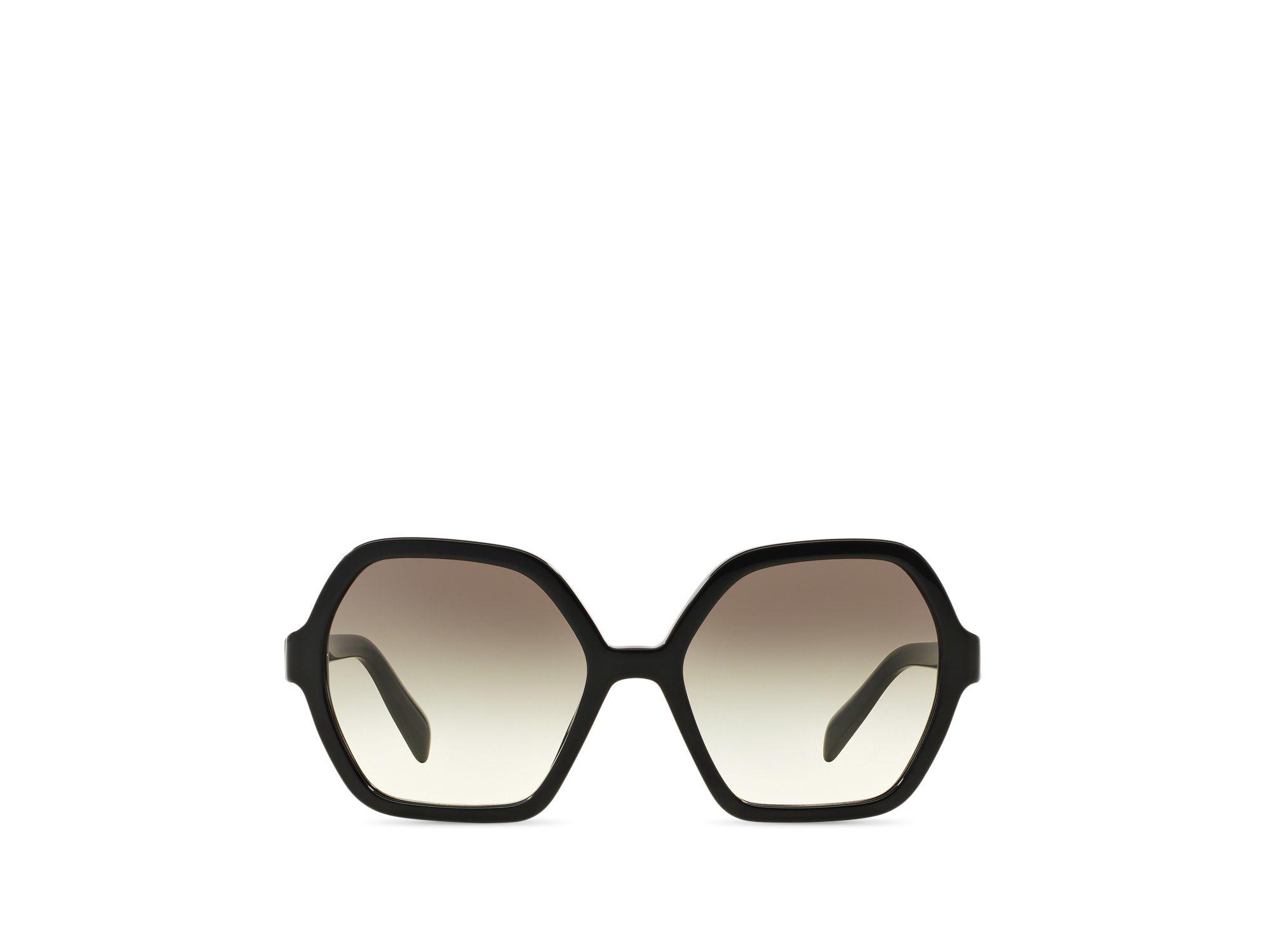 09ec8bffbe87 ... best price lyst prada oversized octagon sunglasses in black c94ec 113c4