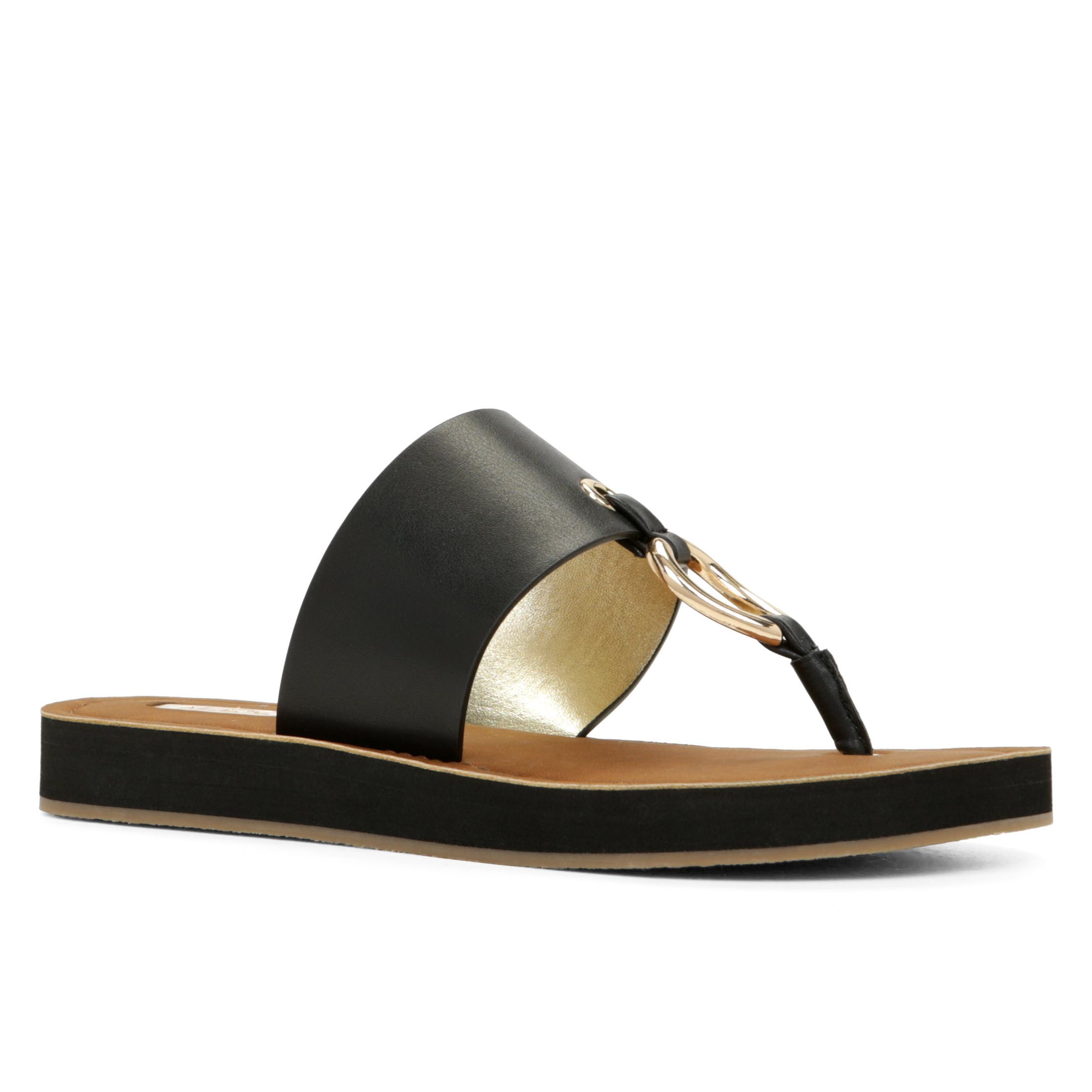 2af01a674 Lyst - ALDO Aferracien-U Thong Sandals in Black