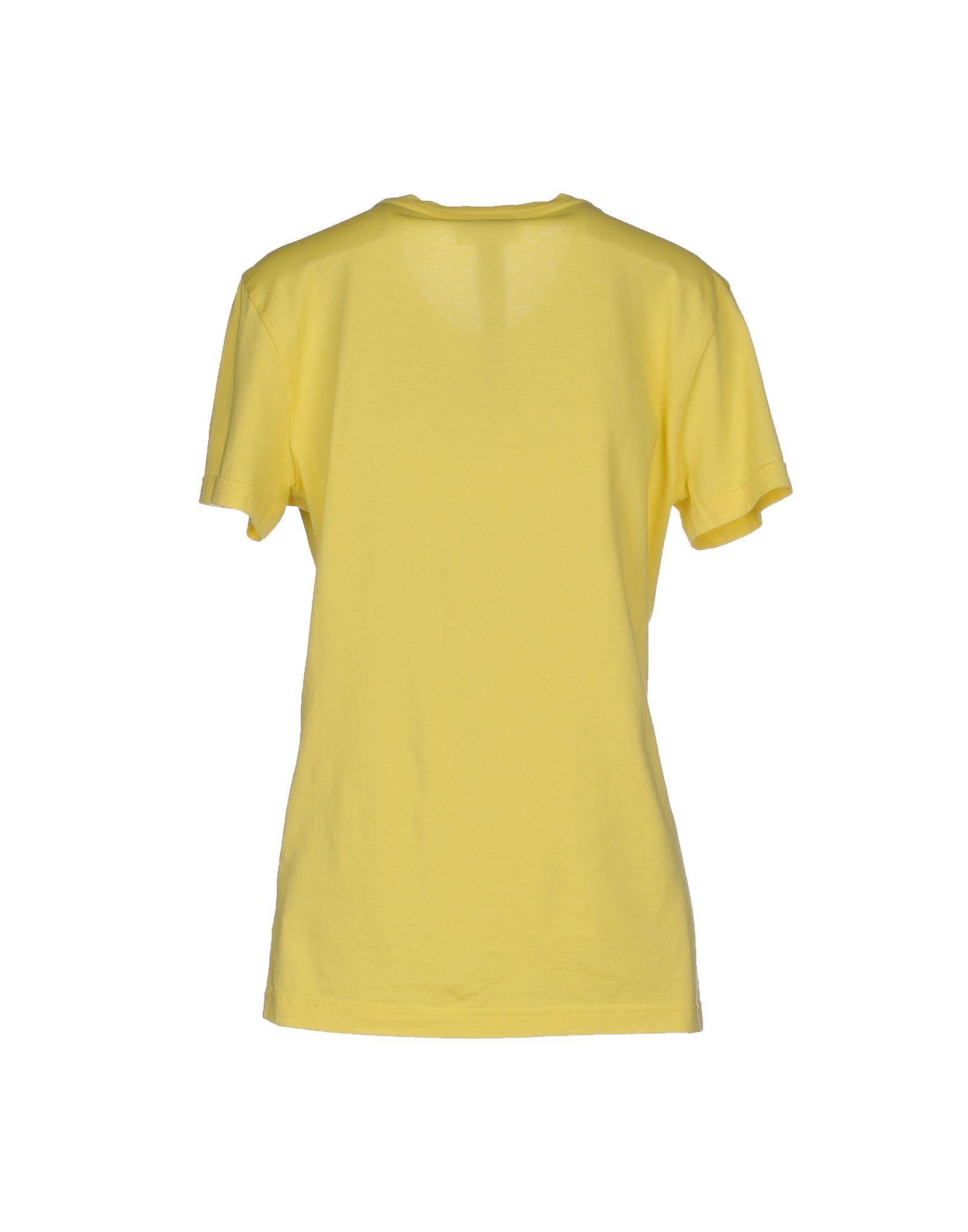 John richmond t shirt in yellow lyst for T shirt printing richmond va