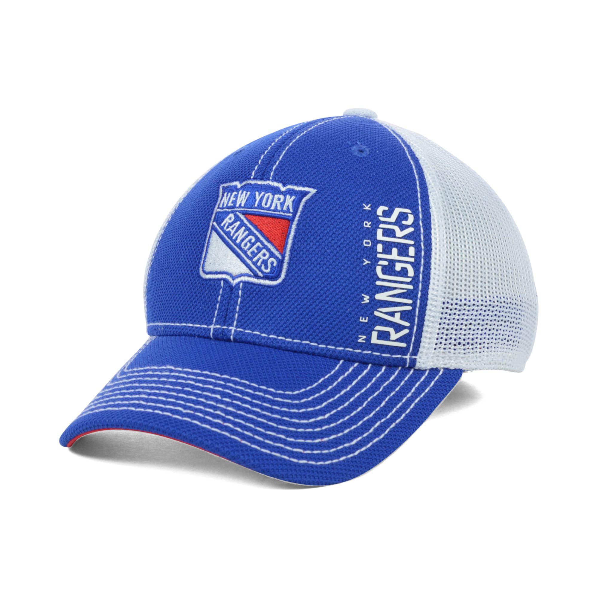 ecb5a883f6f Lyst - Reebok New York Rangers Face Off Mesh Cap in Blue