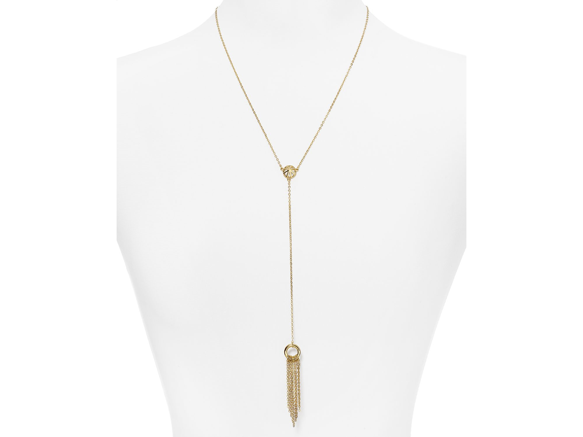 Rebecca Minkoff Heart Lariat Necklace in Metallic Gold QQtaM