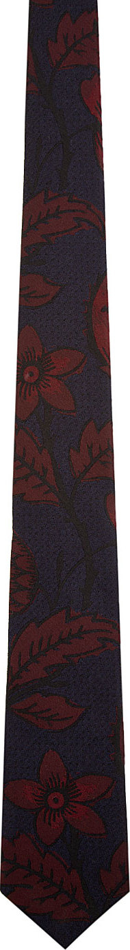b7f5e40ca ... spain lyst burberry prorsum blue and burgundy leaves tie in blue for men  c773a ef157 czech burberry london green embroidered leaf motif ...