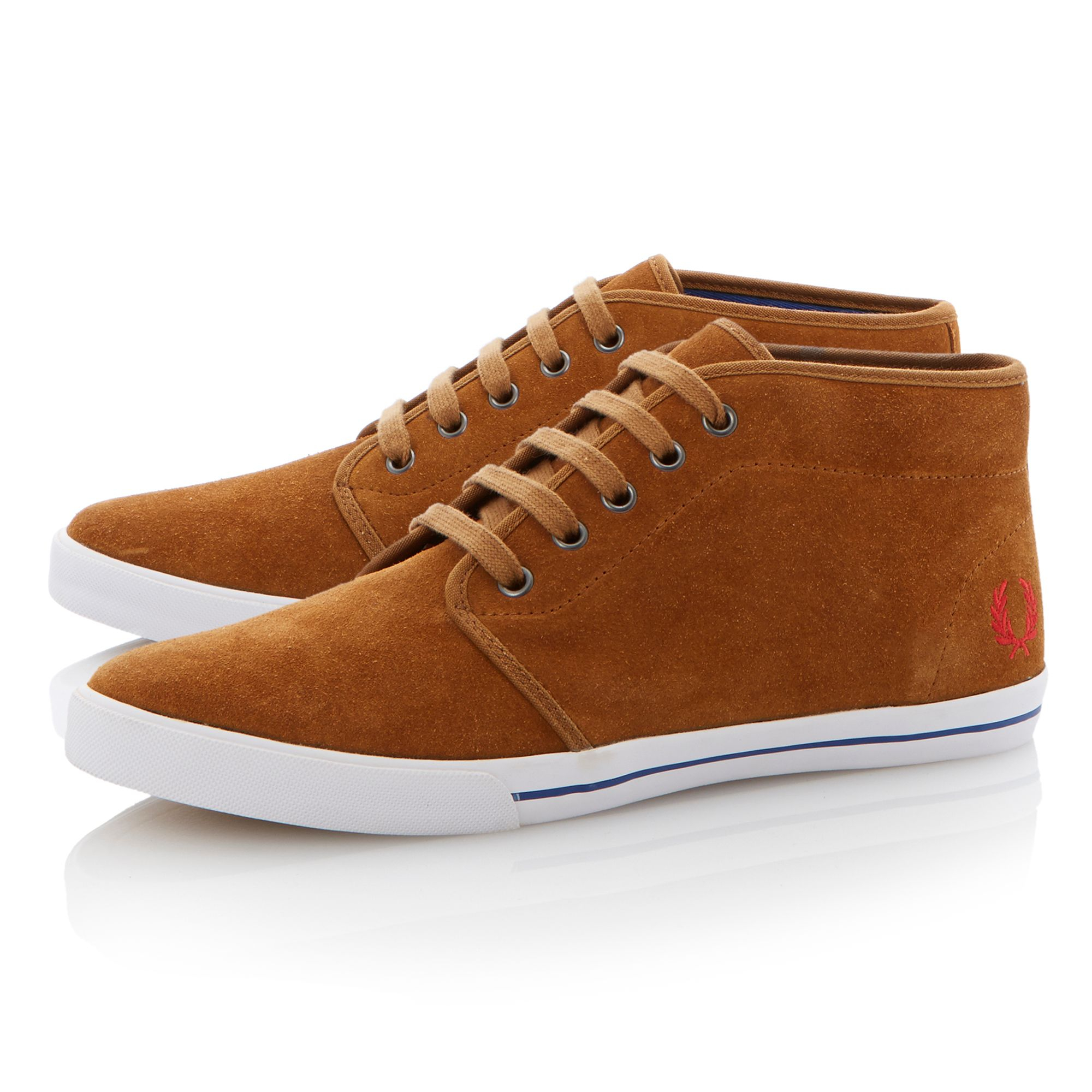 Fred Perry Canvas Shoes Brown