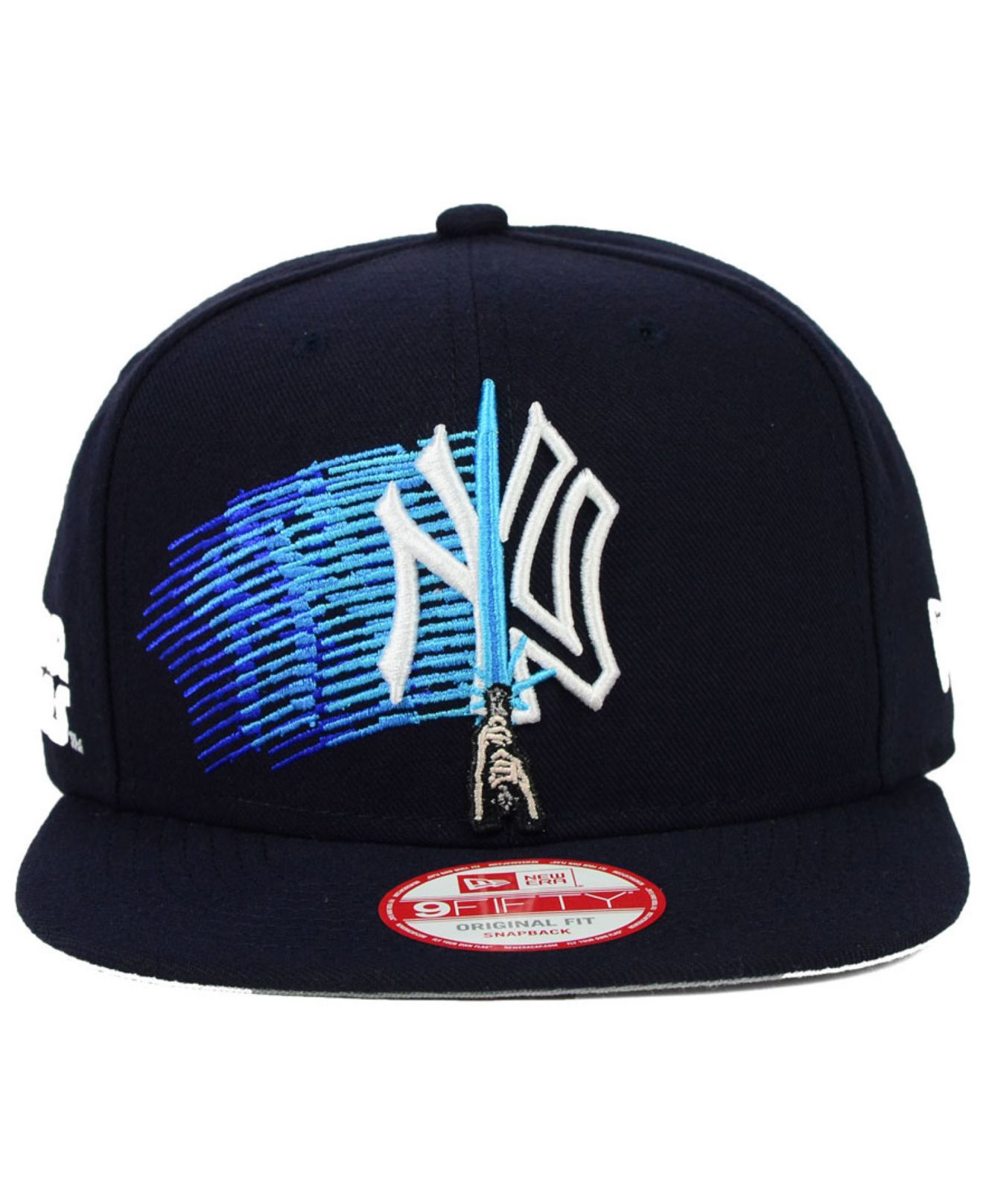 d33b62af71 ... low price lyst ktz new york yankees star wars logoswipe 9fifty snapback  cap in blue for