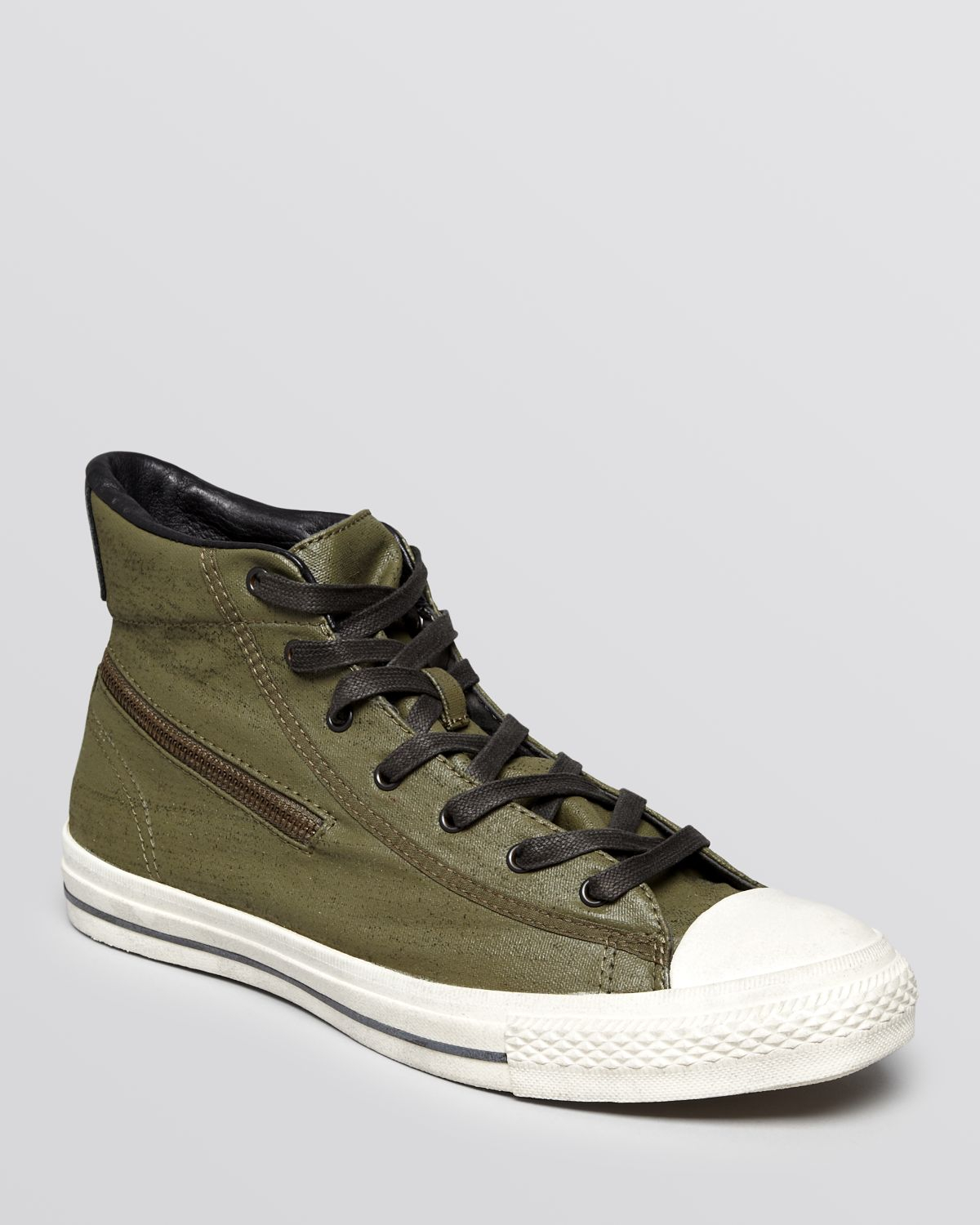 Lyst - Converse Chuck Taylor All Star Zip High Top Sneakers in Green ... 4199db539bb4