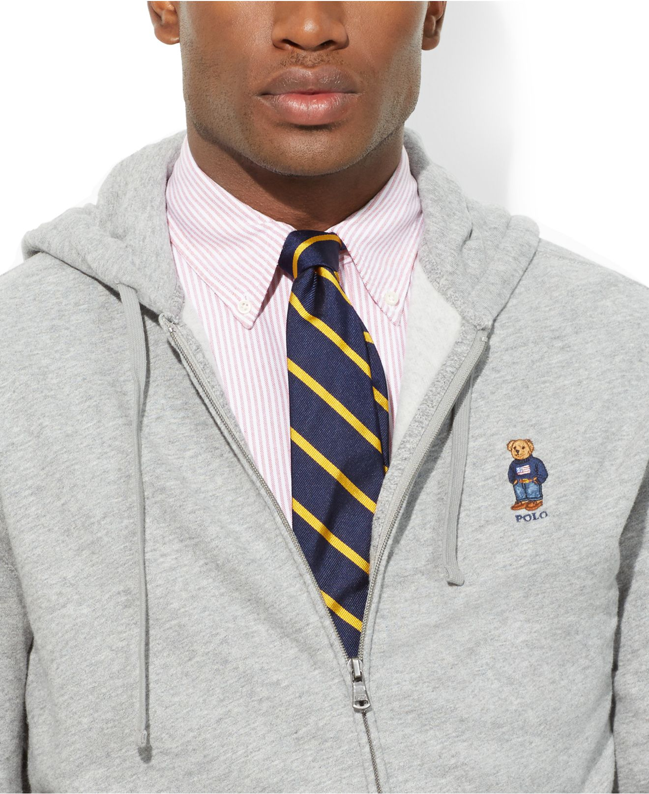 Ralph Lauren Polo Grey Zip Hooded Sweatshirt