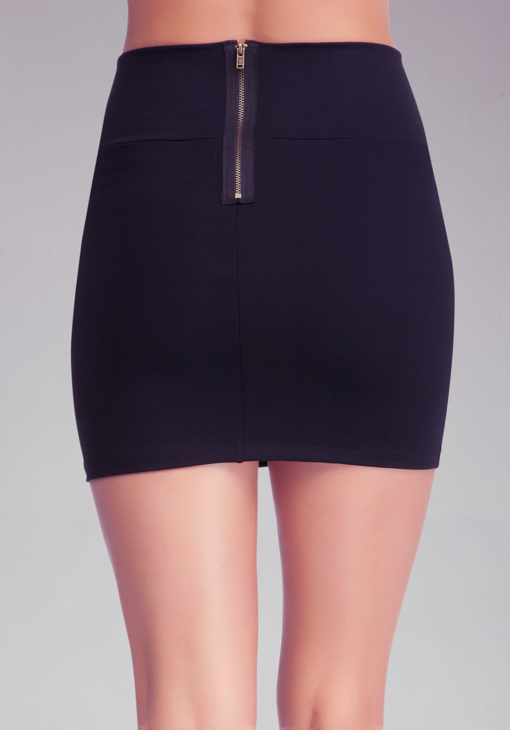 Bebe High Waist Mini Skirt in Black | Lyst