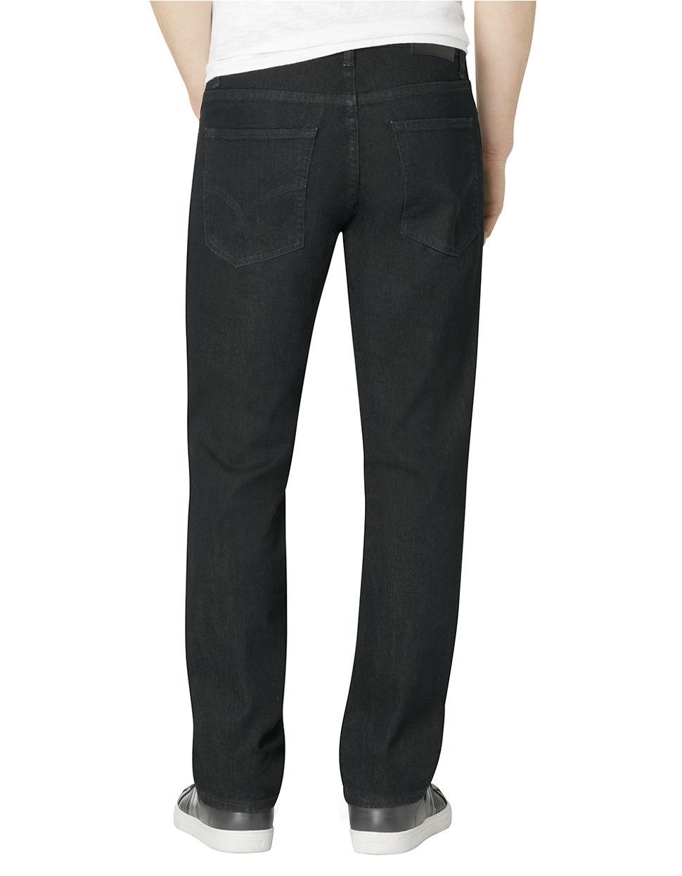 calvin klein jeans slim straight leg jeans in black for. Black Bedroom Furniture Sets. Home Design Ideas