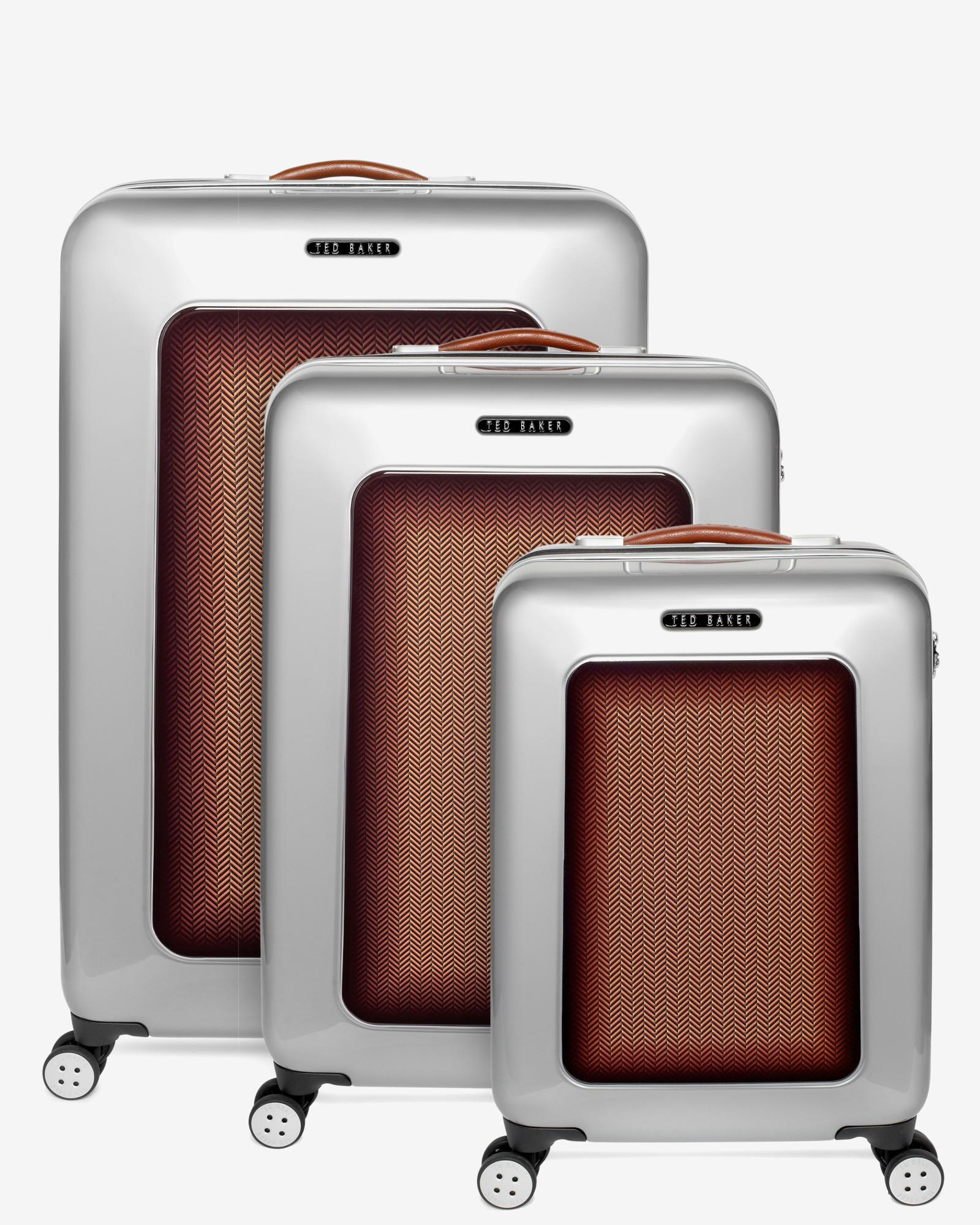 69c3194b2 Ted Baker Medium Herringbone Suitcase in Metallic for Men - Lyst
