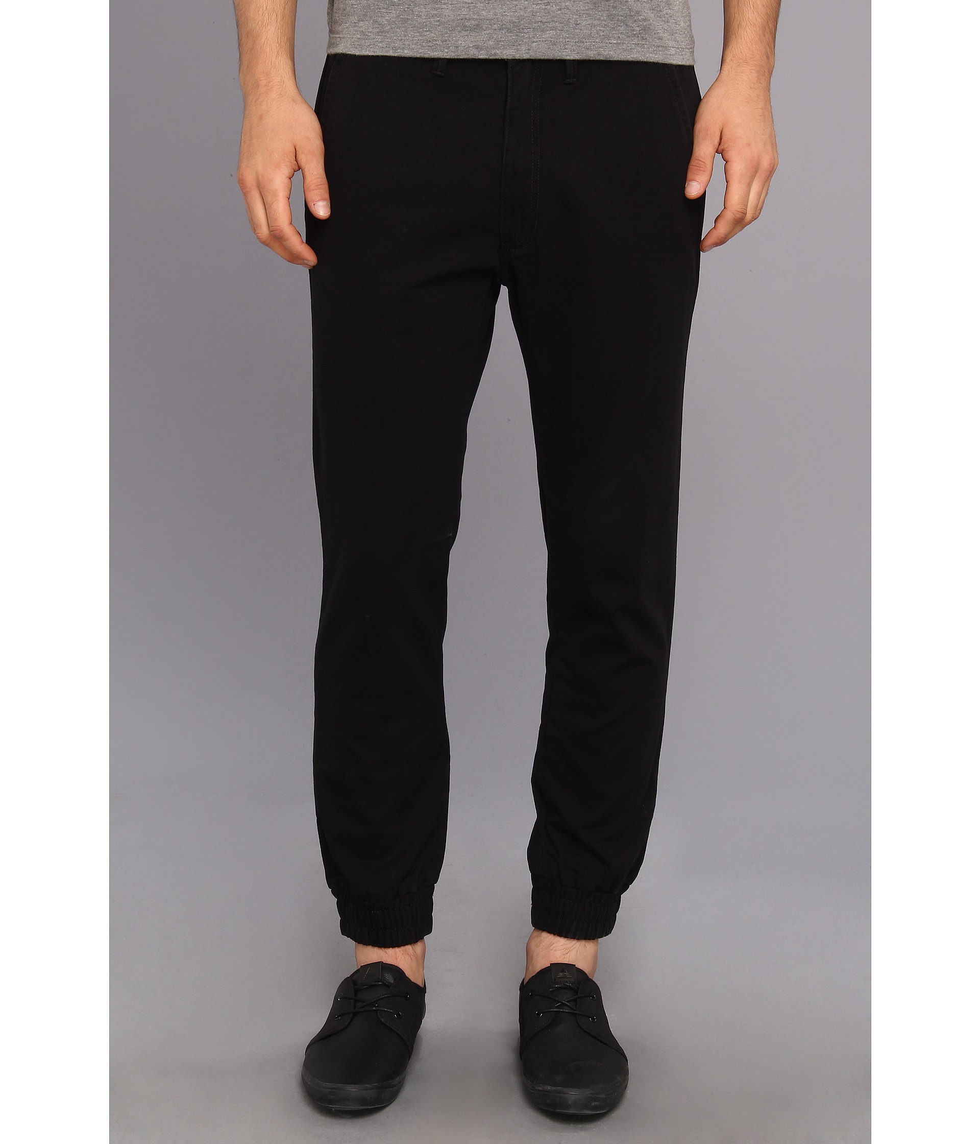 4a631485af Lyst - Vans Excerpt Chino Pegged Pant in Black for Men