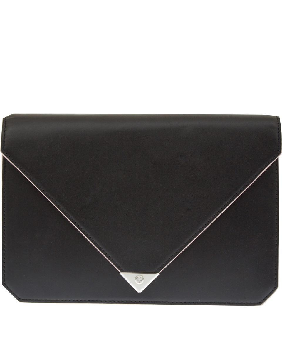 98d352598784 Lyst - Alexander Wang Black Prisma Envelope Clutch Bag in Black
