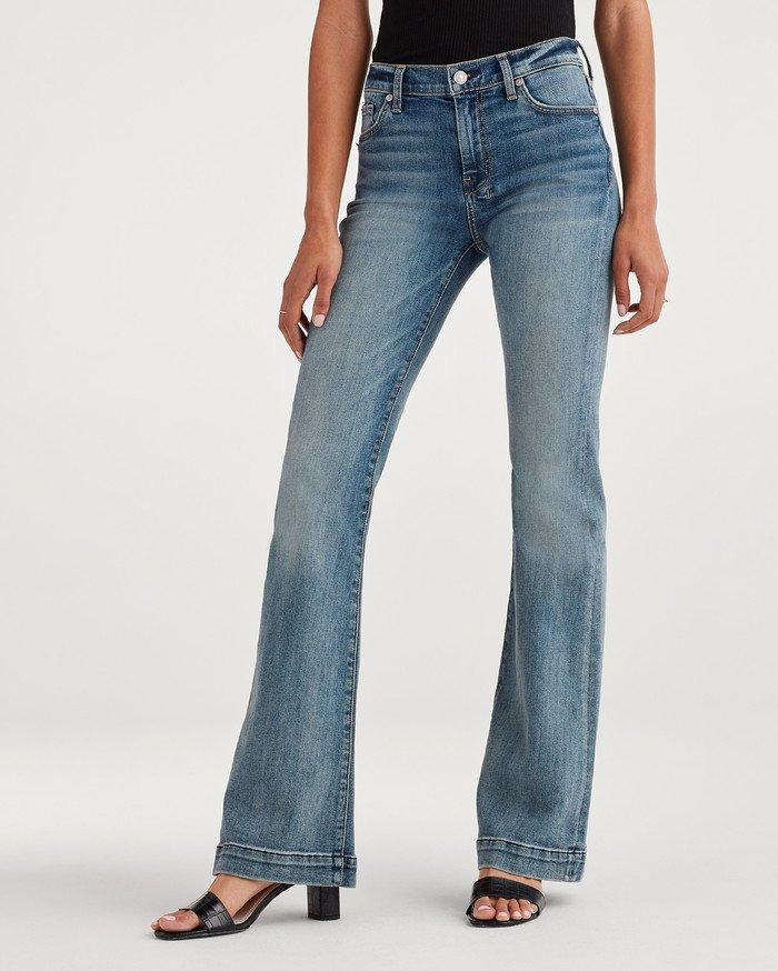 048711baac Lyst - 7 For All Mankind B(air) Denim Dojo In Authentic Fortune in Blue