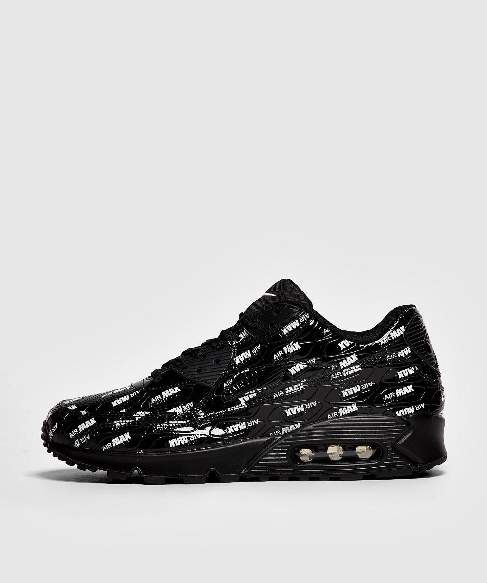 50602afad Lyst - Nike Air Max 90 Premium Trainer in Black for Men