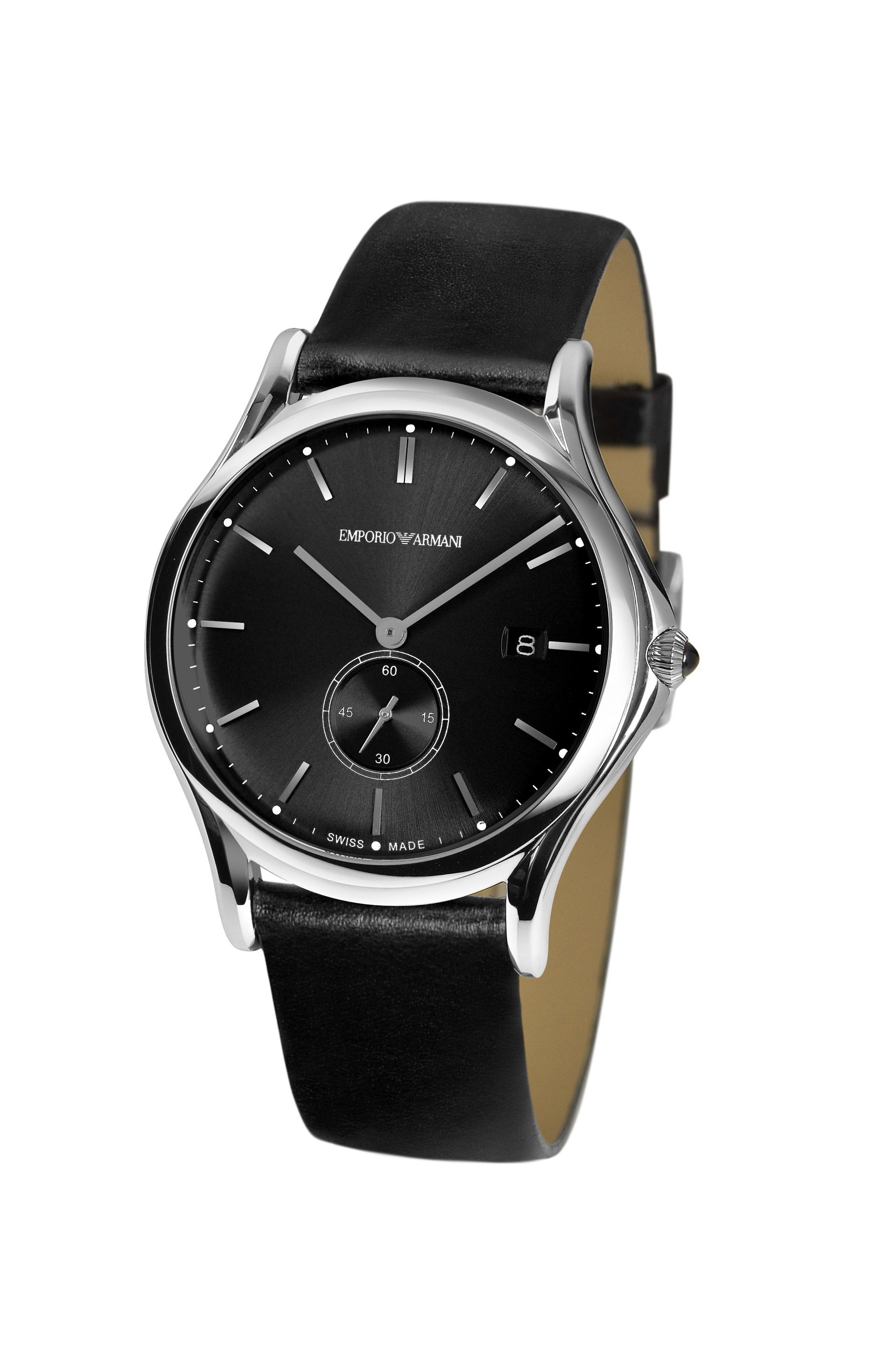f8f6a8f4aabc Emporio Armani Watch Swiss Made Collection in Black - Lyst