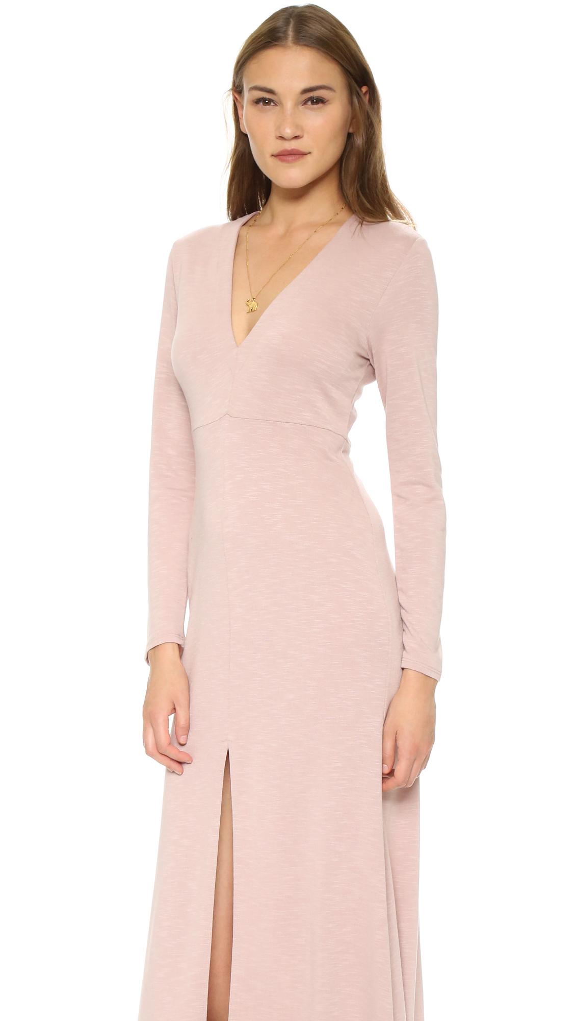 Lyst Lanston Long Sleeve Maxi Dress In Pink