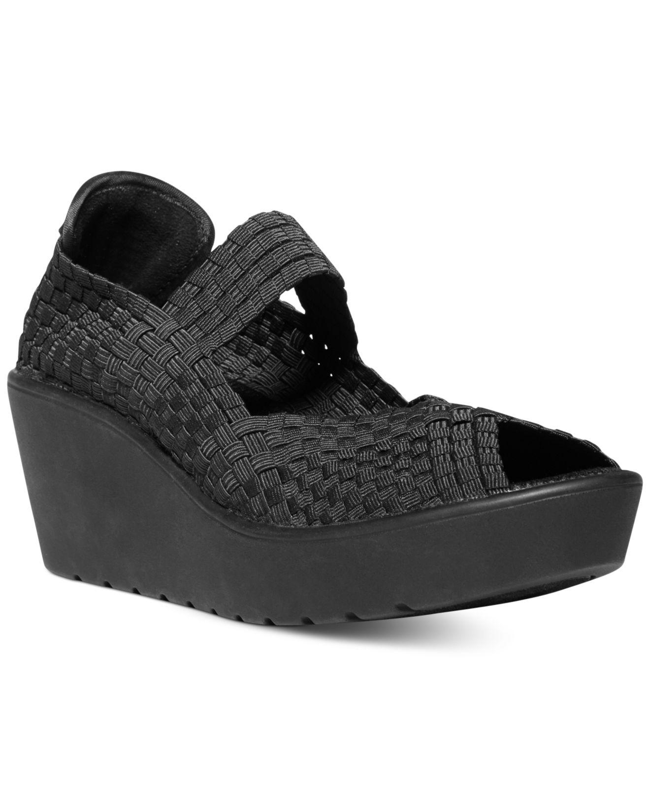 Lyst Steven By Steve Madden Brynn Platform Sandals In Black
