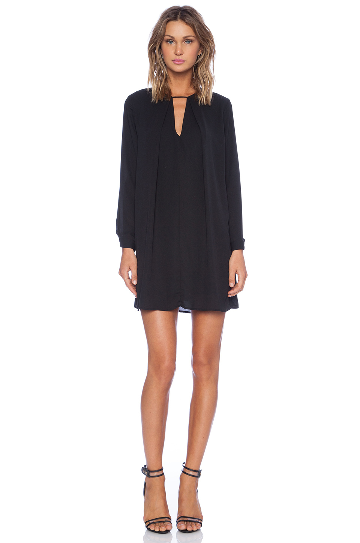 bb6fa55bb8f Krisa Long Sleeve Swing Dress in Black - Lyst