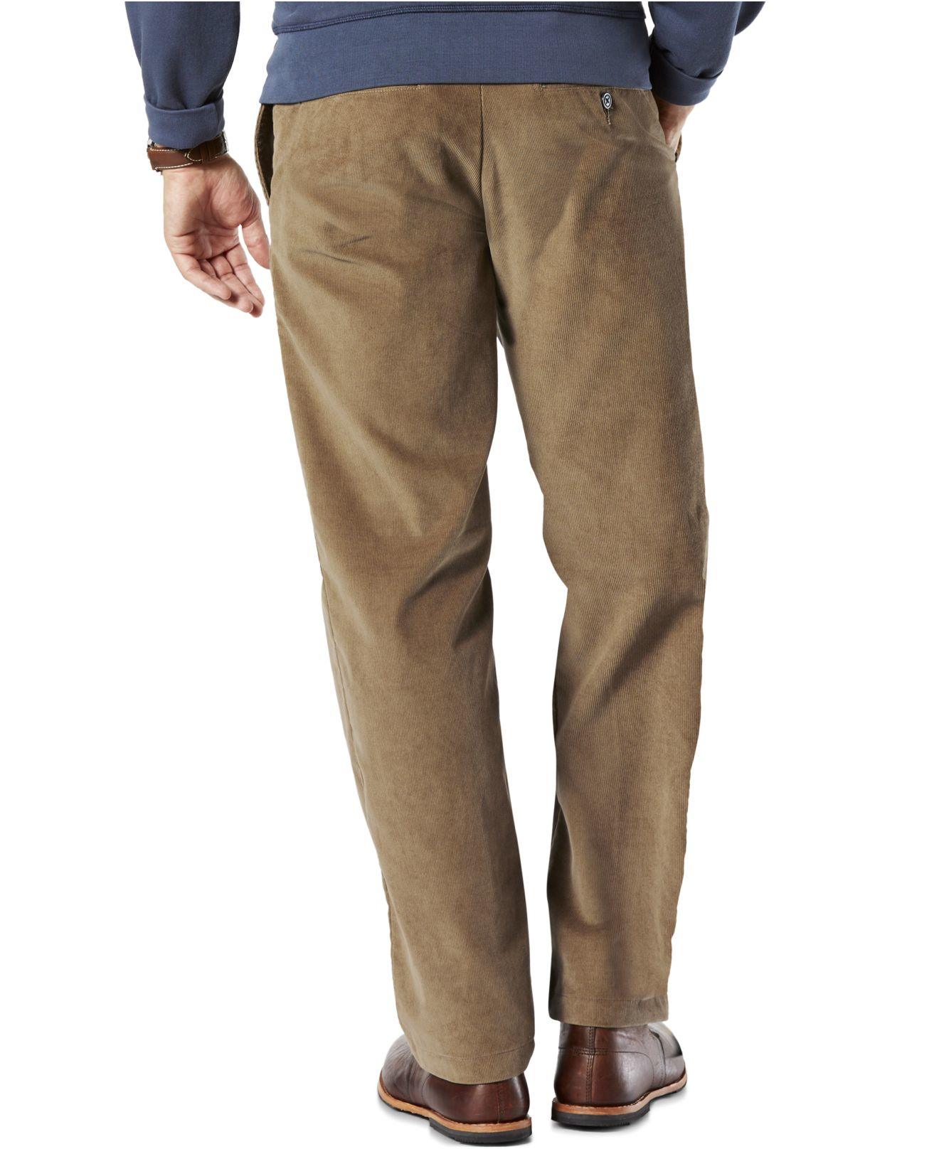 Dockers D2 Straight-fit Field Khaki Corduroy Pants in Natural for ...