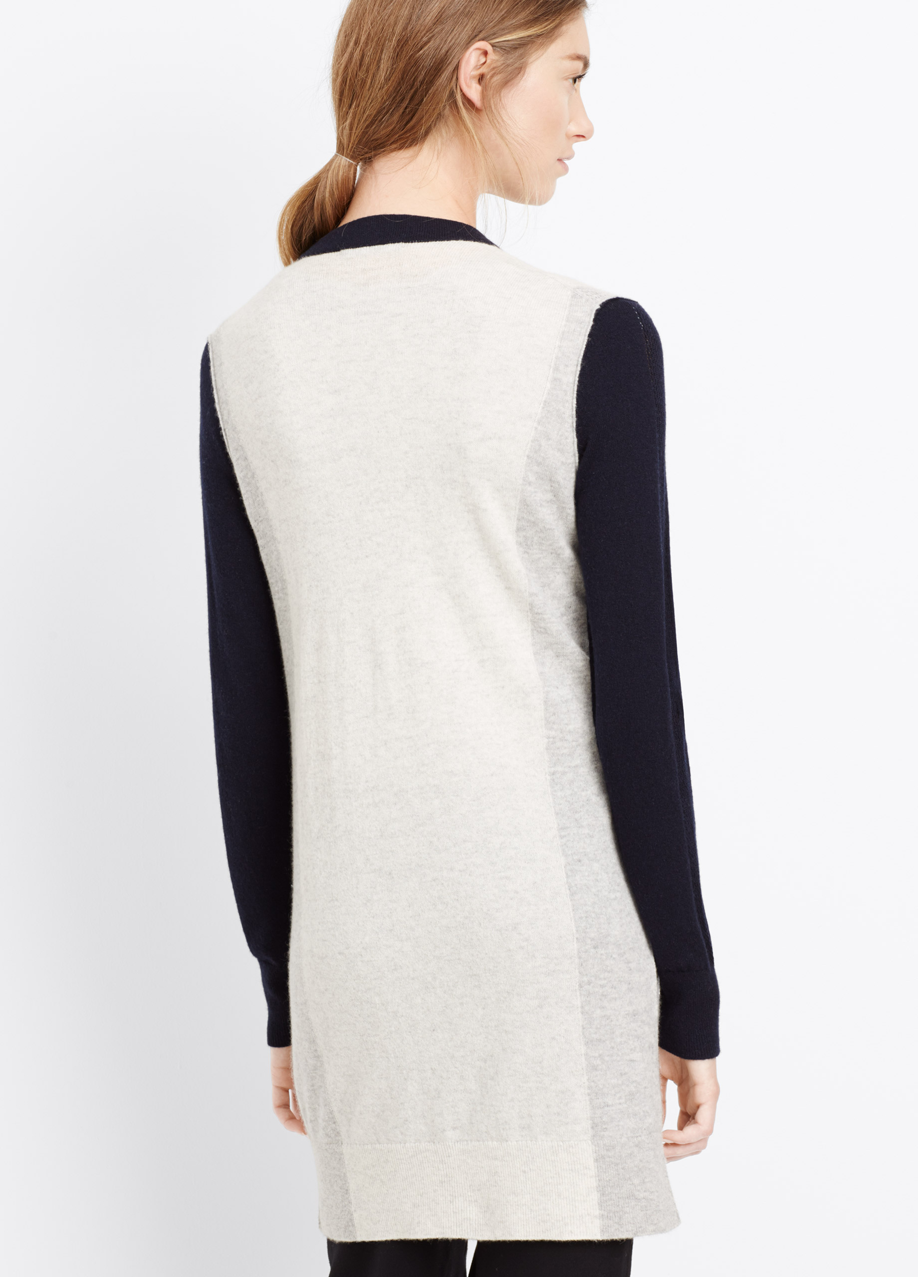 Vince colorblock cashmere sweater dress