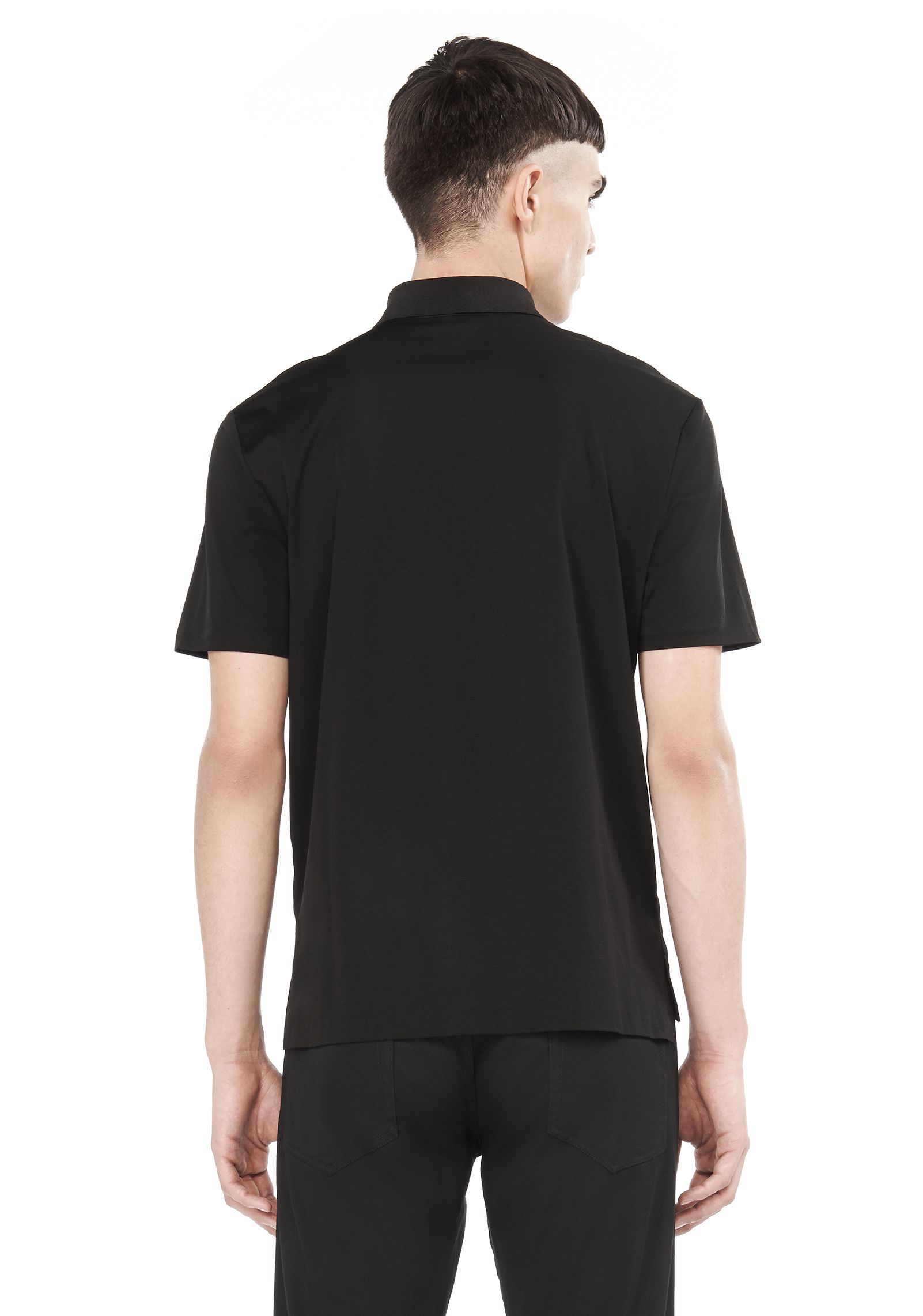 T by alexander wang short sleeve polo shirt in black for for T by alexander wang t shirt