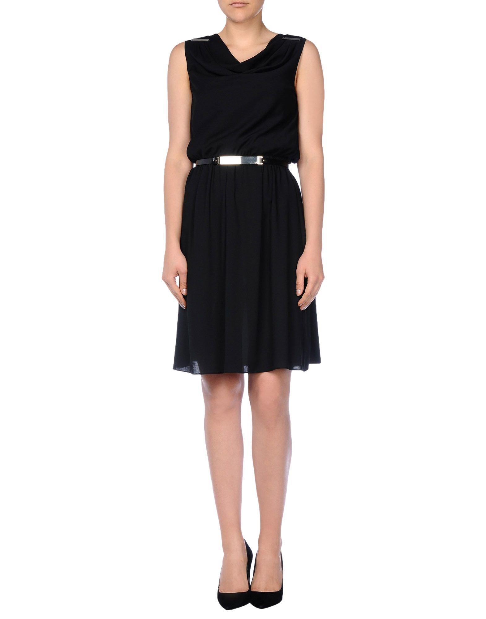 Armani jeans knee length dress in black lyst