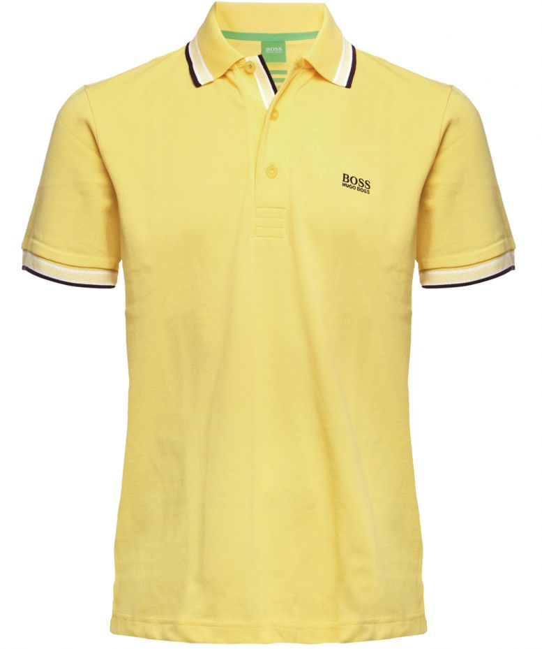 boss green paddy polo shirt in yellow for men lyst. Black Bedroom Furniture Sets. Home Design Ideas