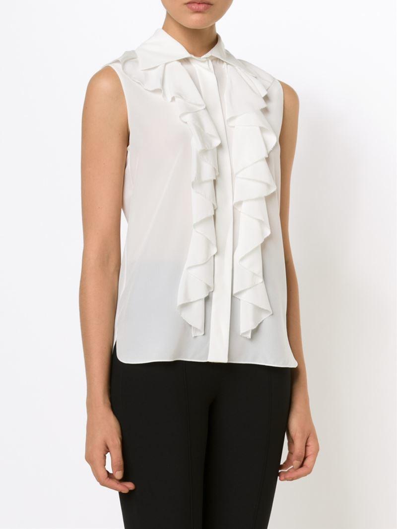 Chloé Ruffle Shirt in Black - Lyst |Ruffle Shirt