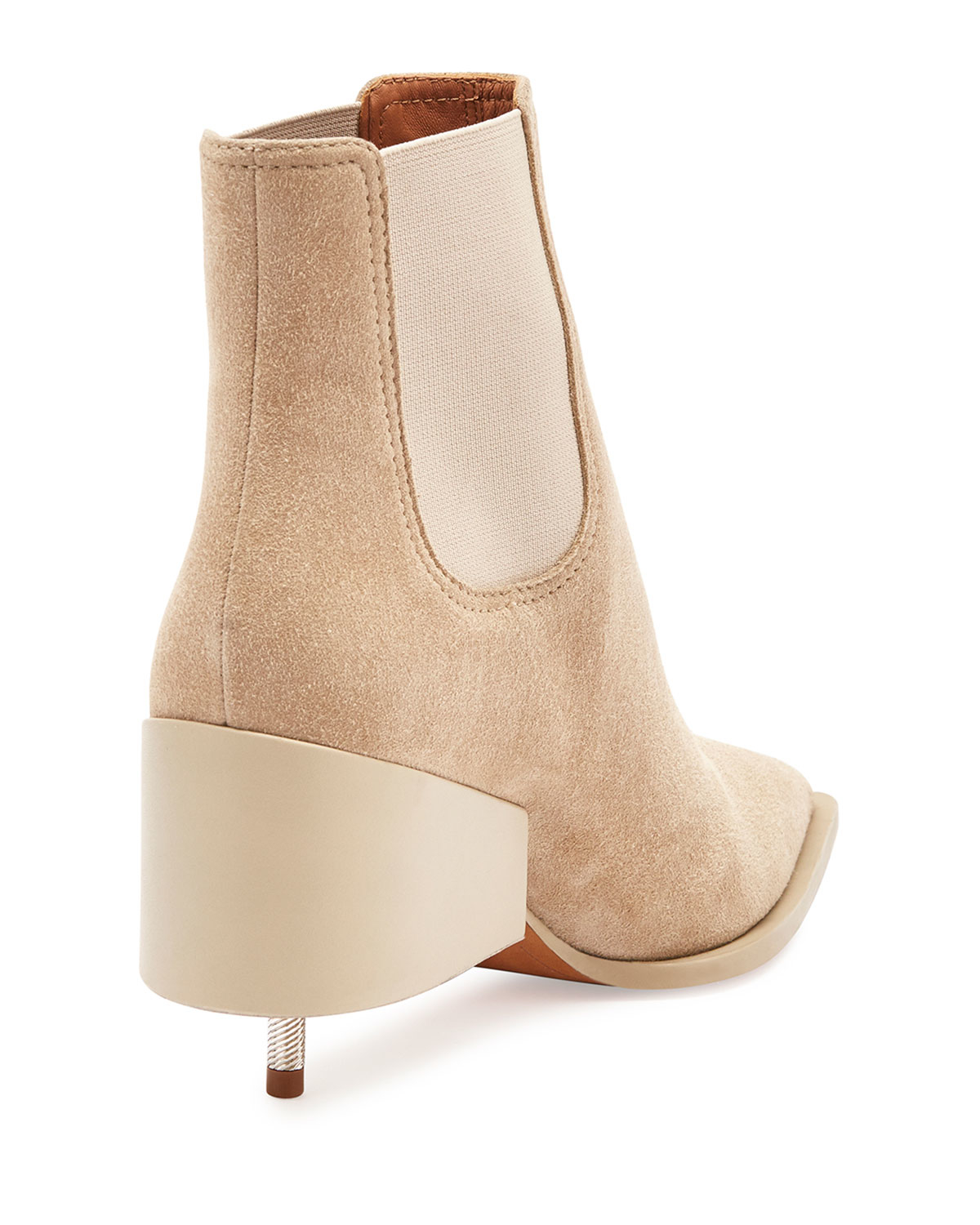 Lyst - Givenchy Screw-Heel Suede Chelsea Boots in Natural 62ff5d37e