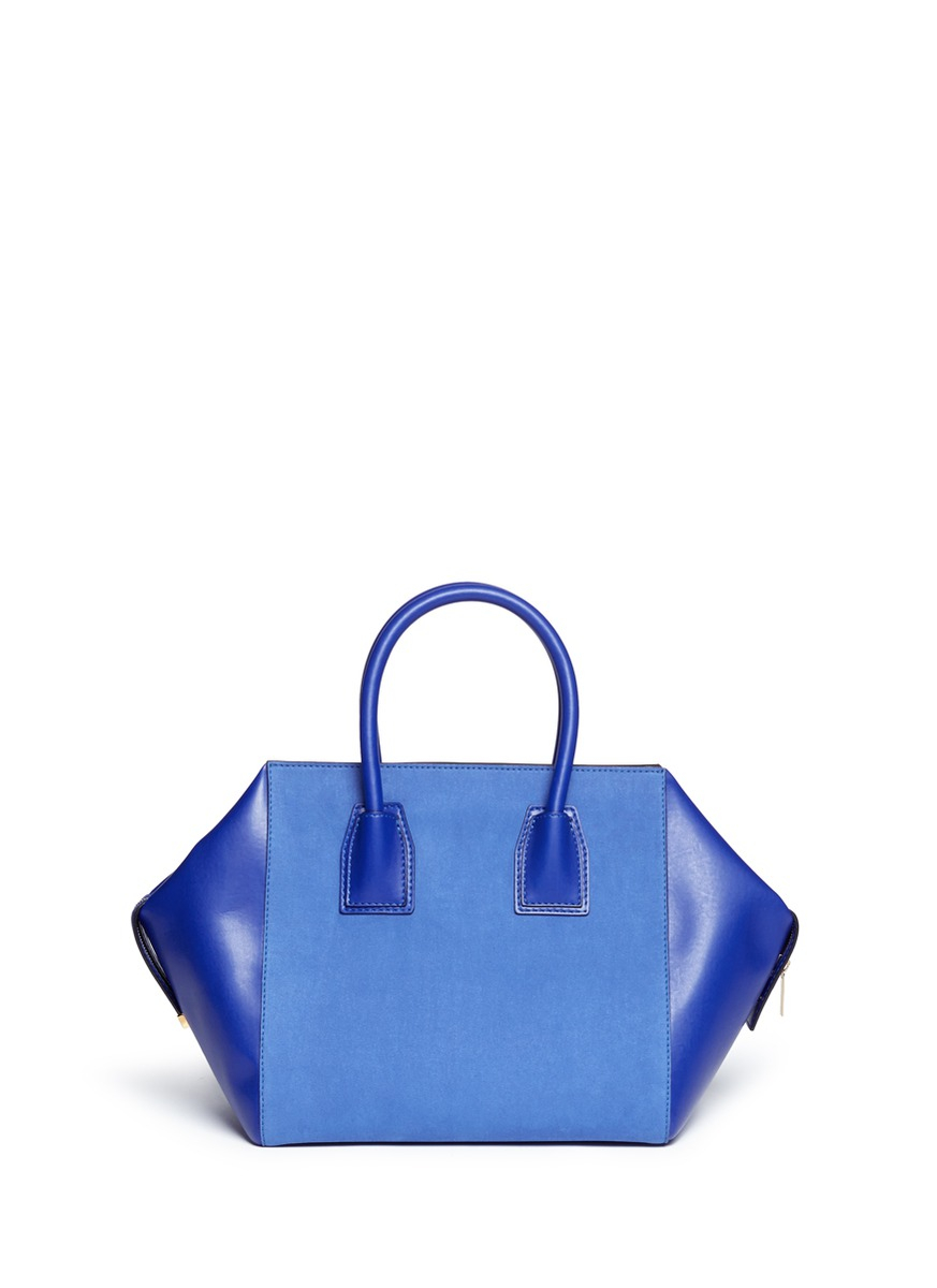 Stella Mccartney Cavendish Small Faux Suede And Leather