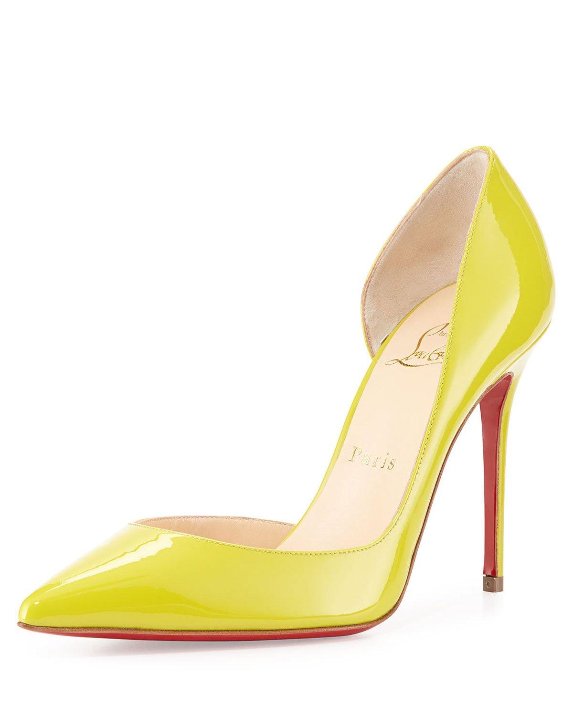 christian louboutin yellow iriza