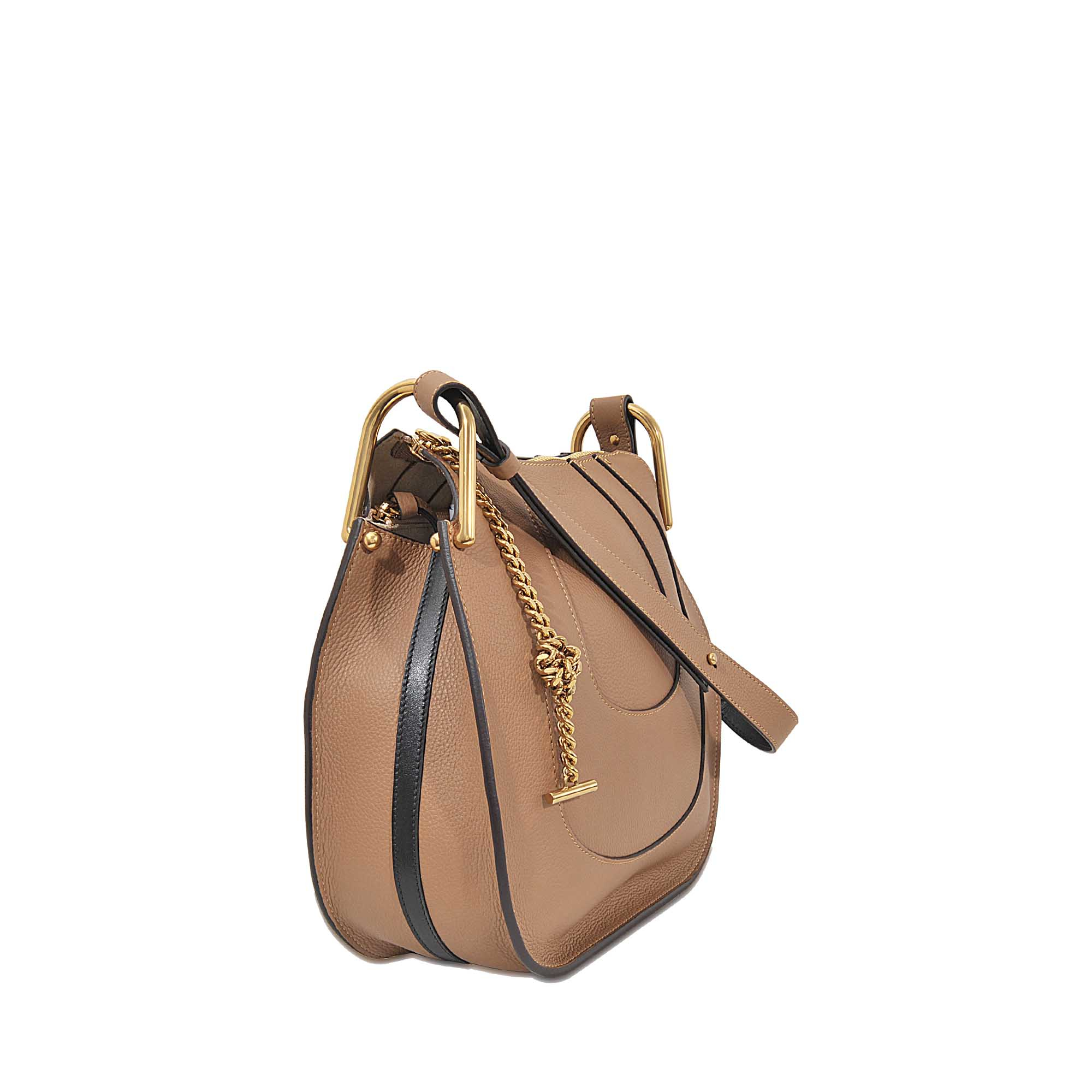 Authentic Chloe Paddington Long Wallet Bifold Black Patent Leather