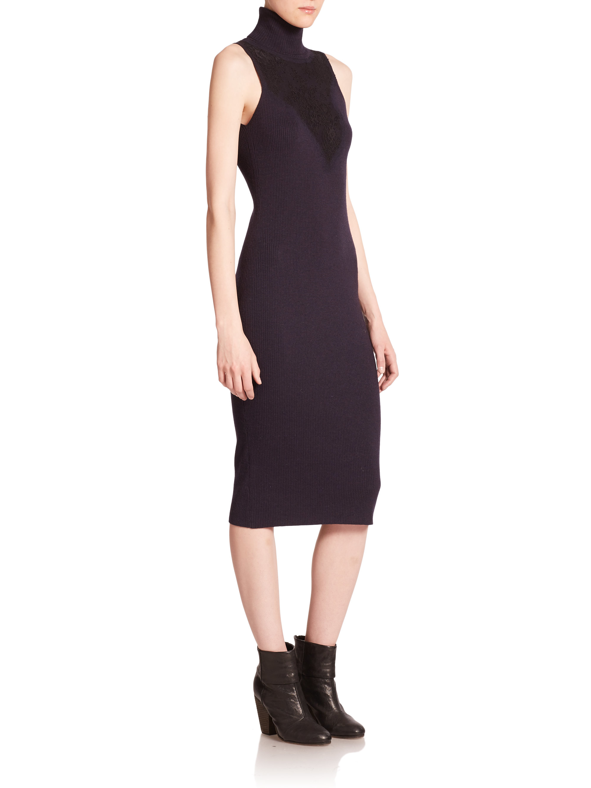 Outlet Store For Sale Sale For Sale Rag & Bone Merino Wool Sleeveless Dress Best Choice lmu1mKl