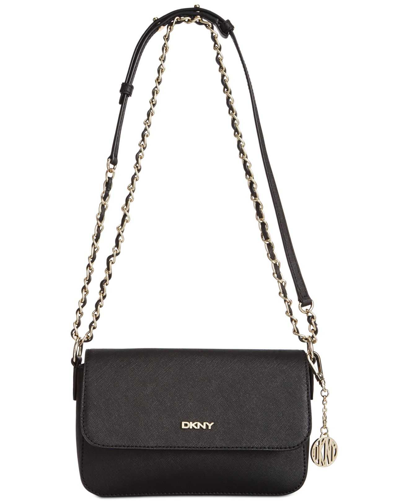 dkny bryant park small flap crossbody in black lyst. Black Bedroom Furniture Sets. Home Design Ideas