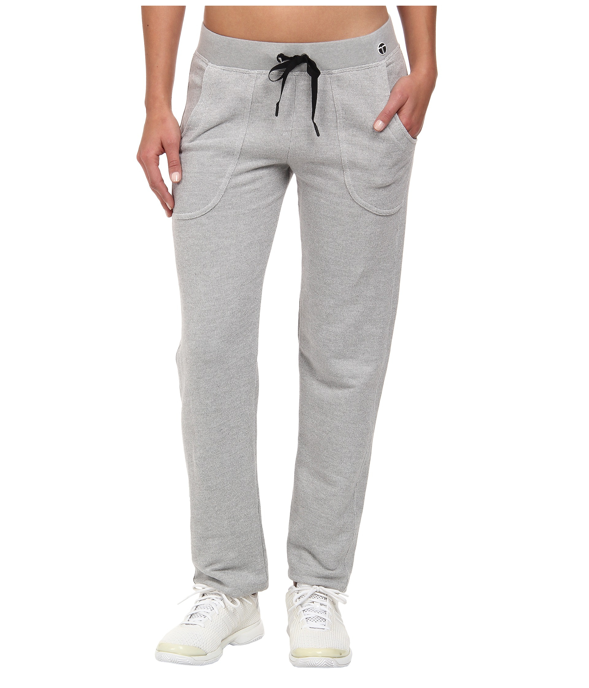 Trina Turk Womens French Terry Straight Leg Pantf Grey - Pants