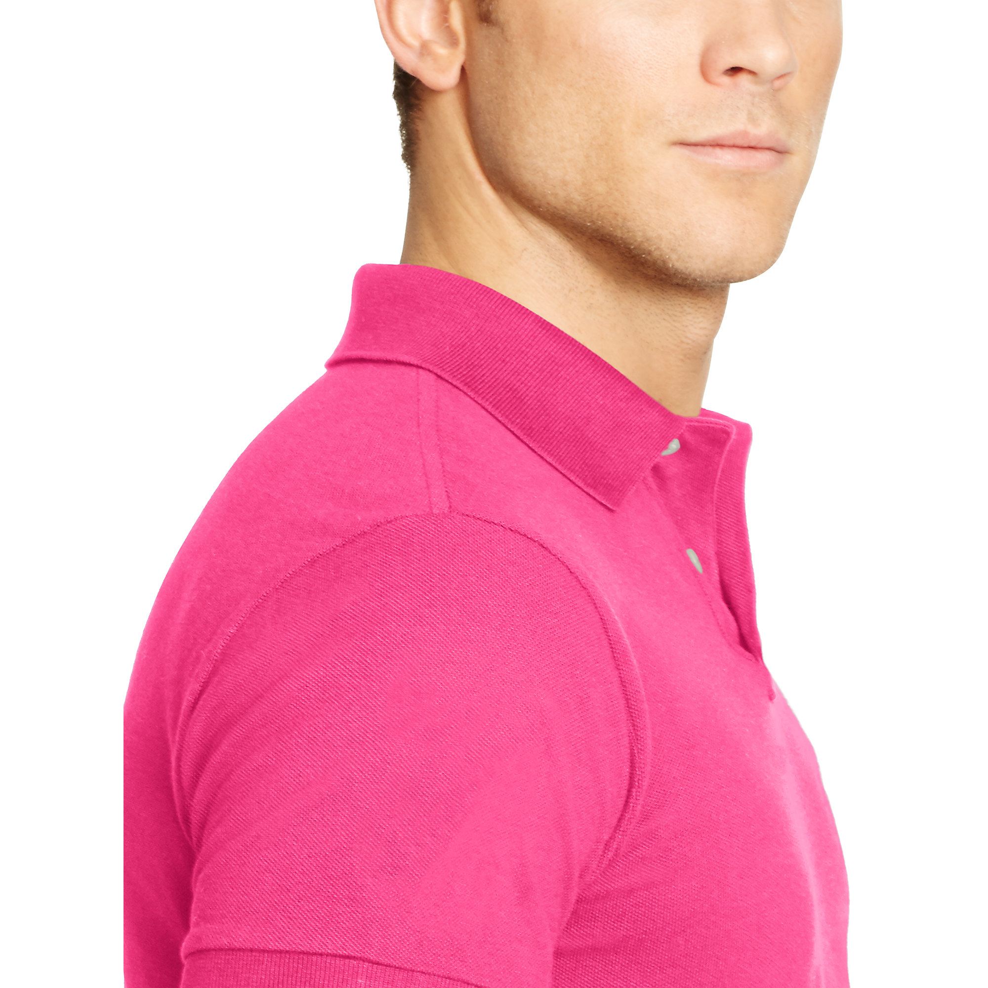 Polo ralph lauren Custom-fit Big Pony Polo in Pink for Men (shocking pink