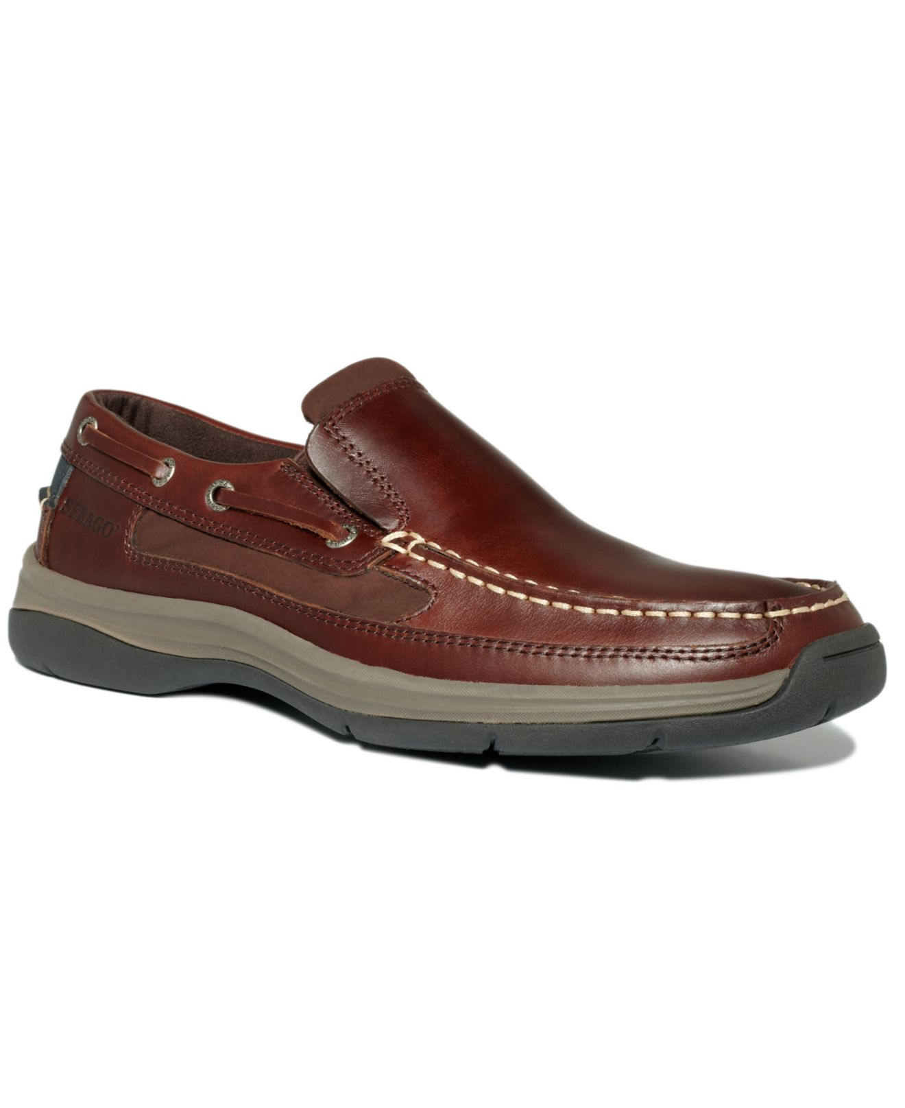 Sebago Bowman Slip On Boat Shoes in Brown for Men | Lyst