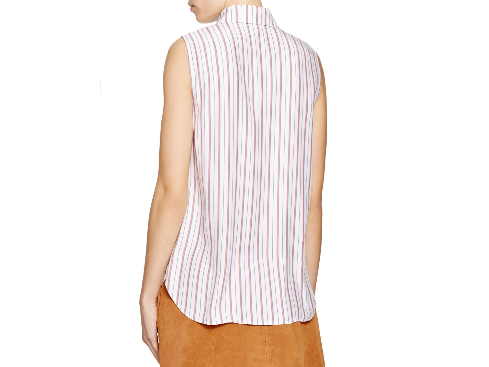 b9b7a176a5557 Lyst - Frame Le Scarf Silk Blouse - 100% Bloomingdale s Exclusive in ...