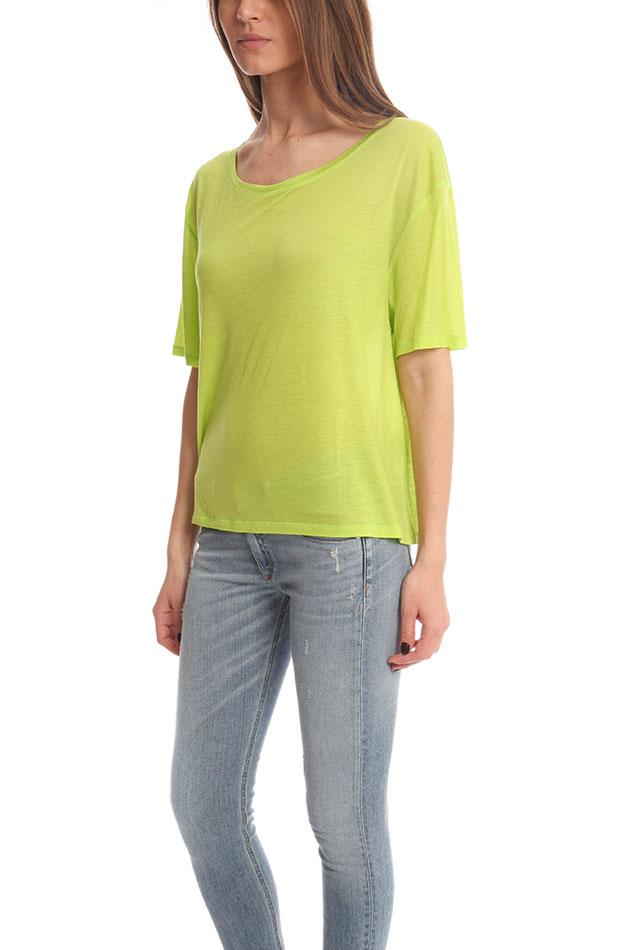 Acne Wonder Tencil T Shirt In Yellow Lyst