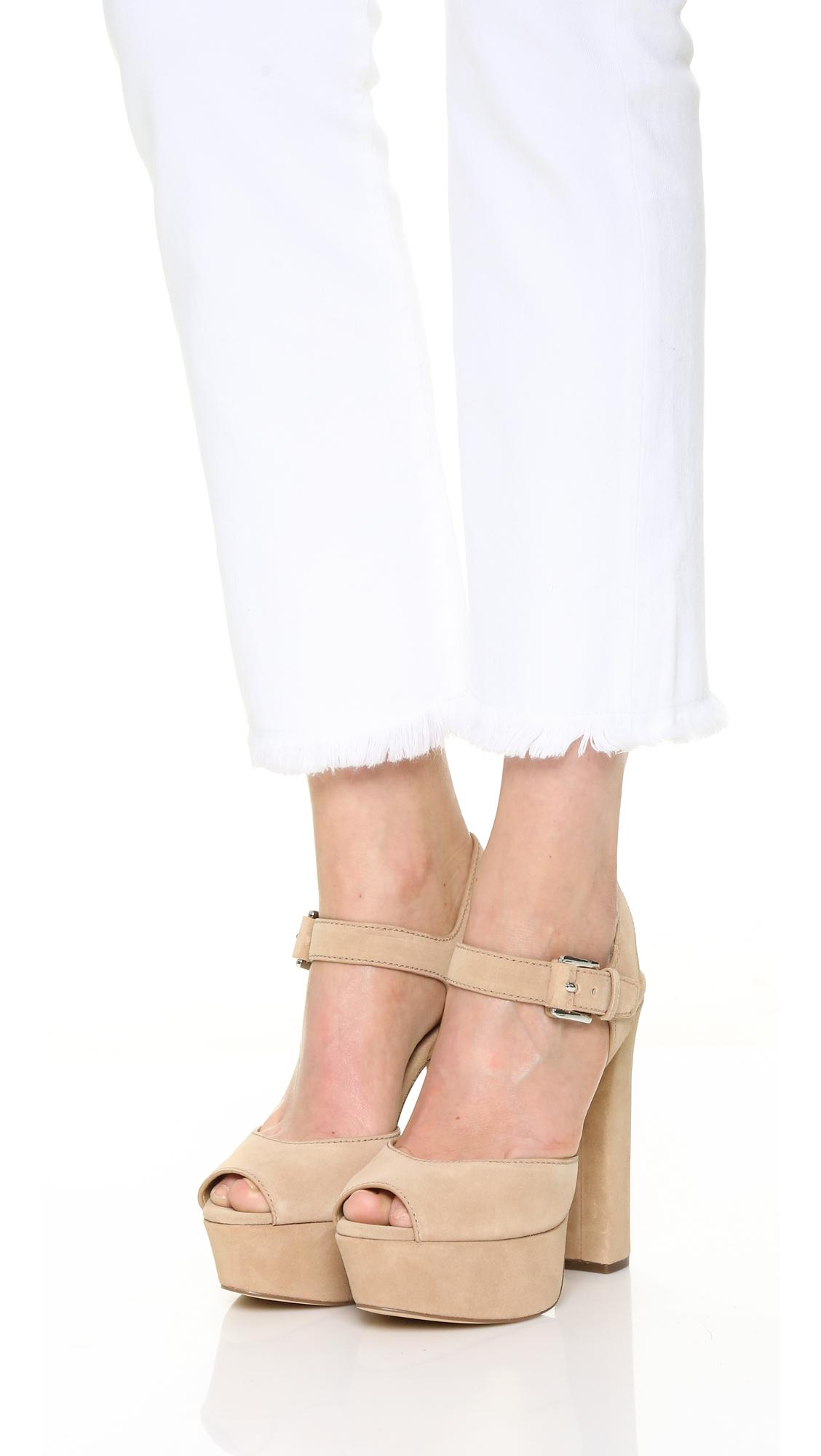 3555b7a29da7 Michael Michael Kors London Platform Sandals in Natural - Lyst