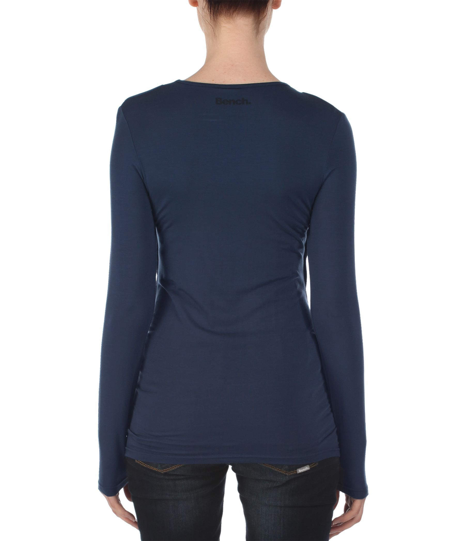 Bench twisterley long sleeve cowl neck t shirt in black lyst for Adam lippes women s long sleeve vee t shirt