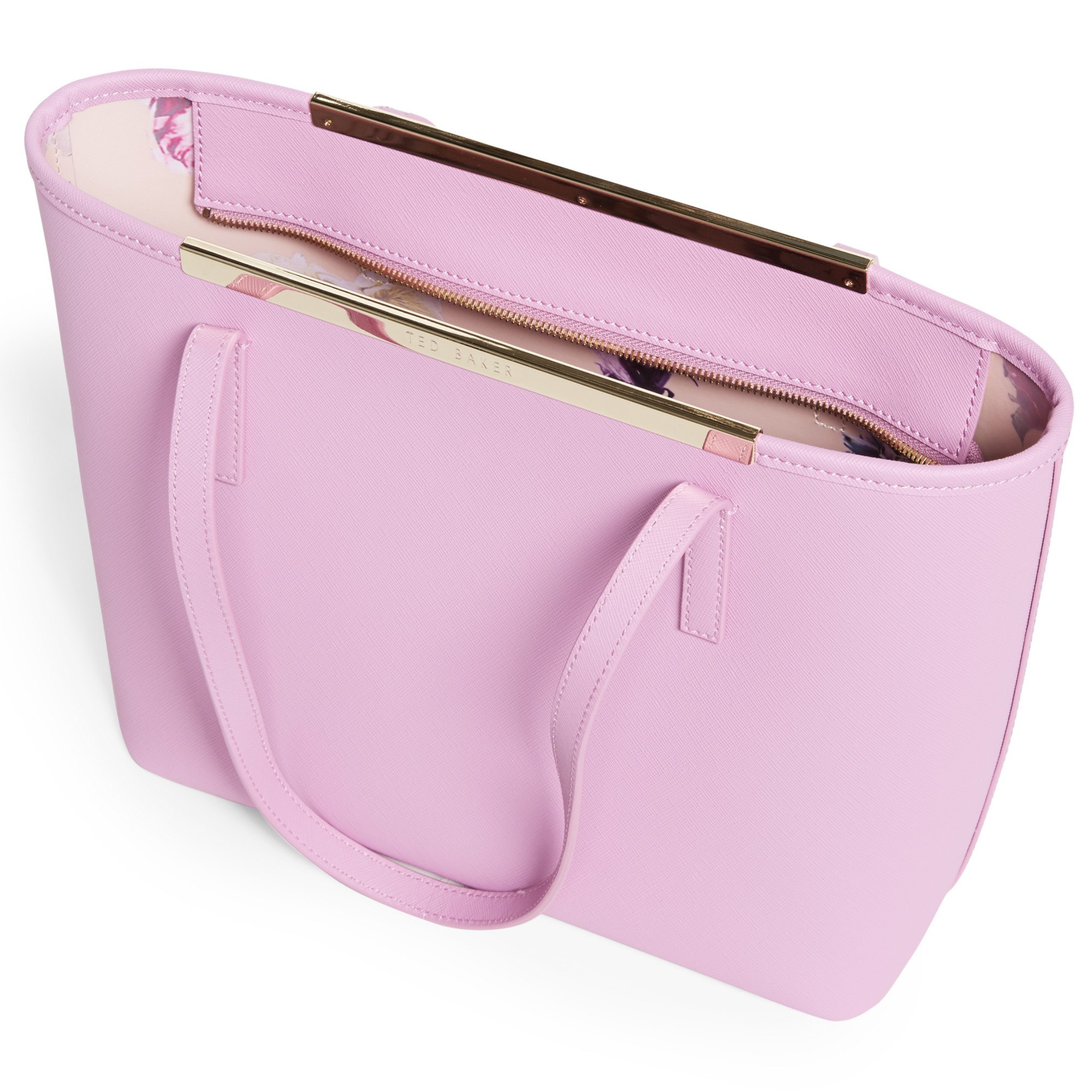 a7d091f4f07707 Ted Baker Phoebie Crosshatch Leather Shopper Bag in Pink - Lyst