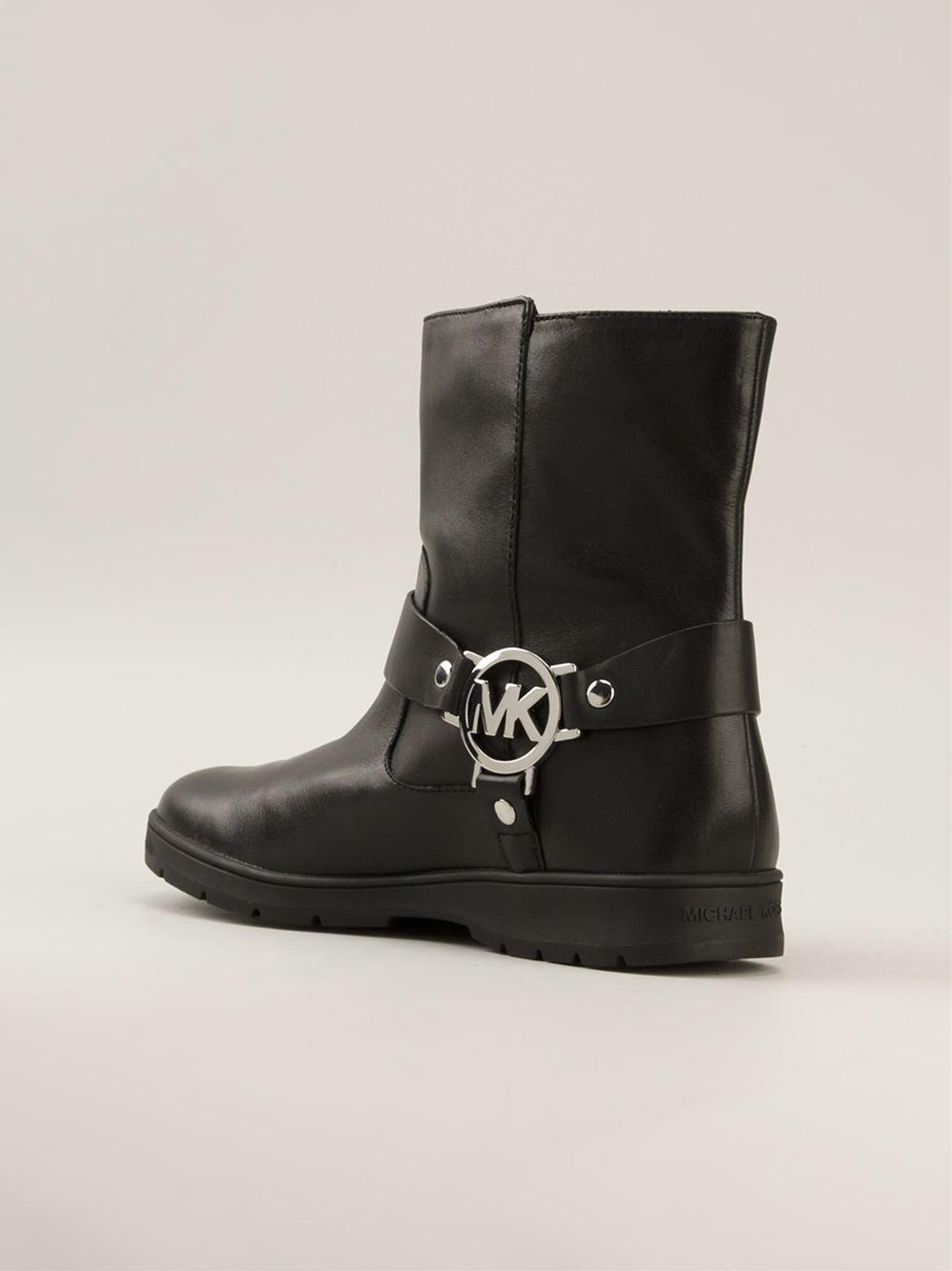 Lyst - Michael Kors 'Fulton' Biker Boots in Black