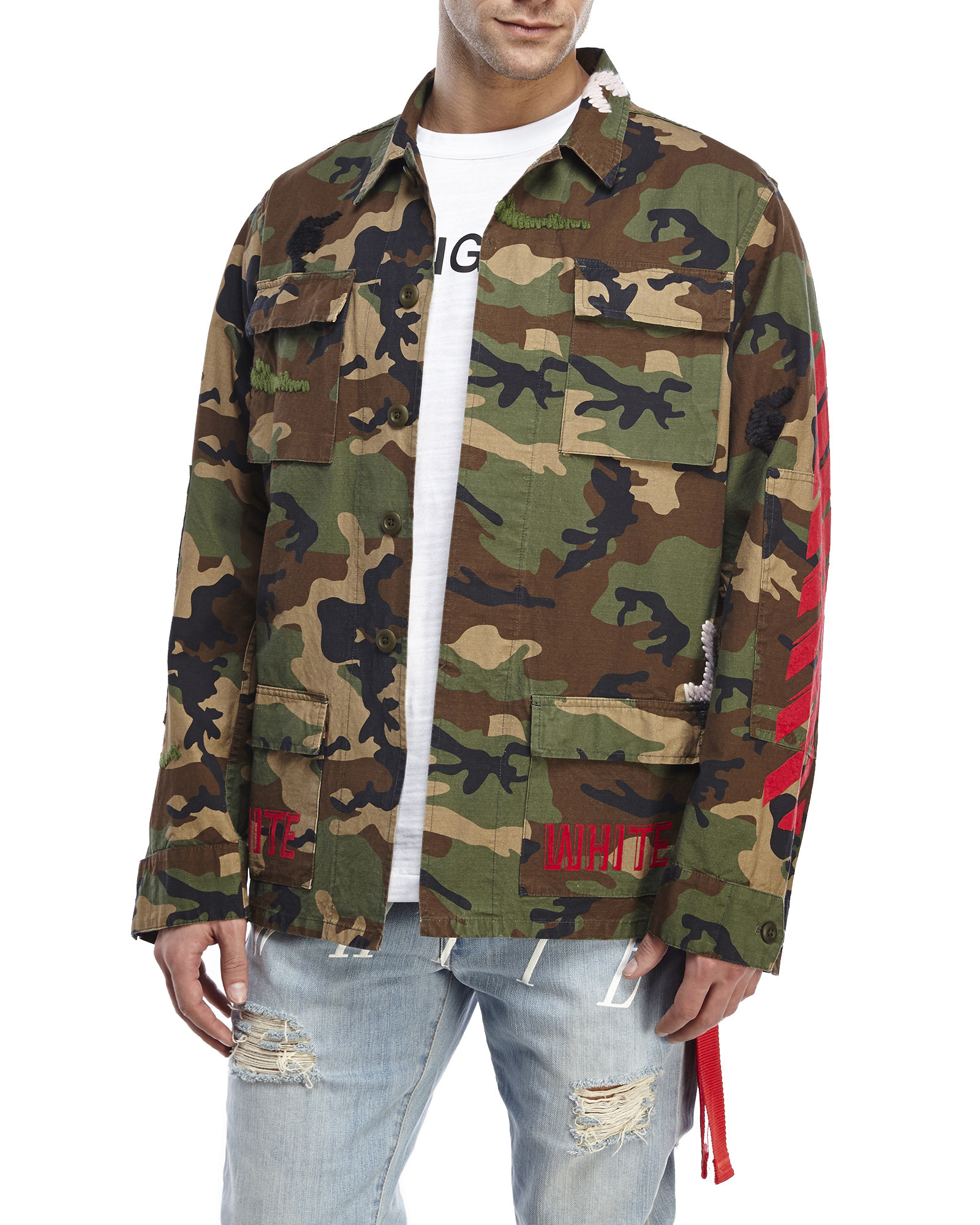 Lyst - Off-White c o Virgil Abloh Embroidered Camouflage Field ... fa6aeef59bb