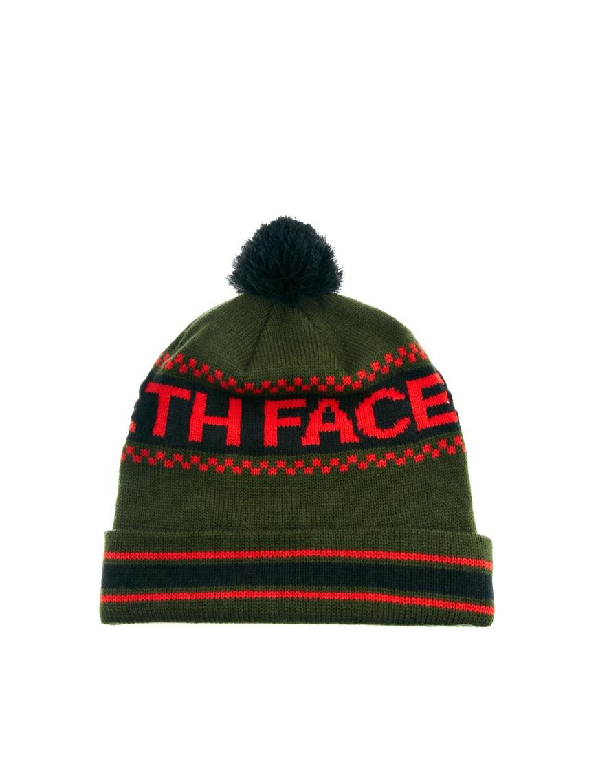 Lyst The North Face Ski Tuke Iv Bobble Beanie Hat In Green For Men d2e81378cc1c