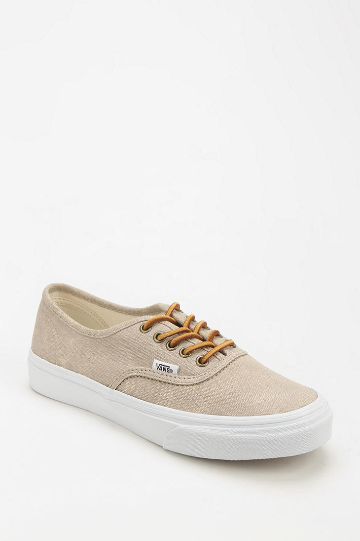 Vans Authentic Washed Womens Sneaker In Beige Cream Lyst