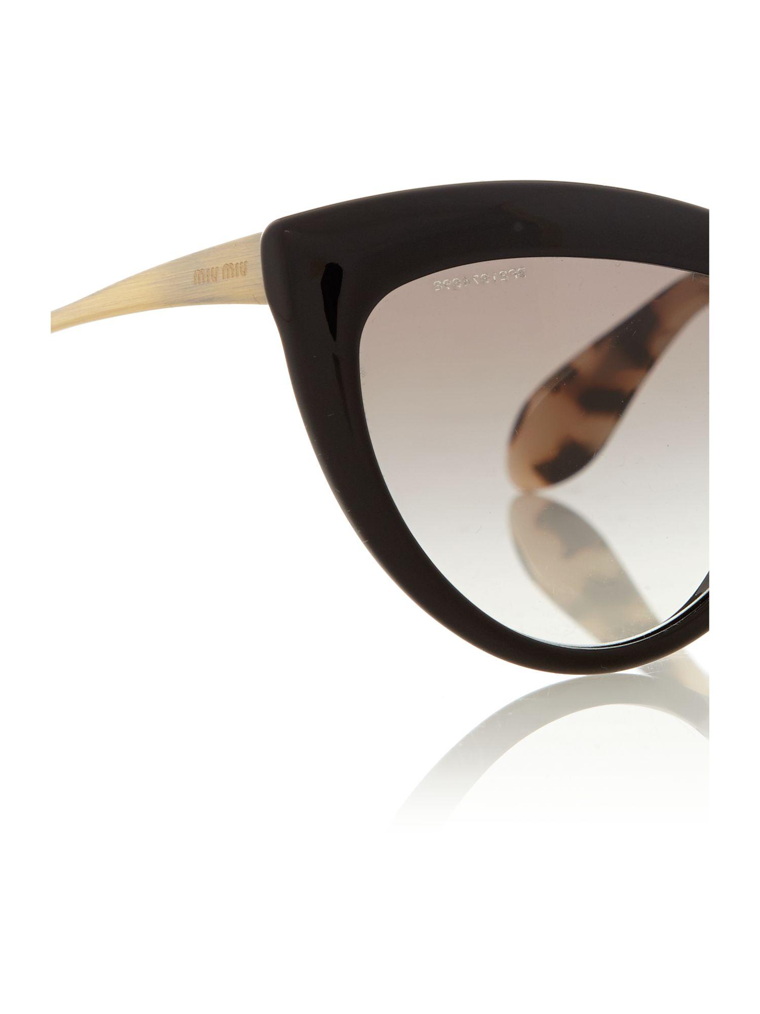 d2eb50ad10c Miu Miu Sunglasses Cat Eye Black