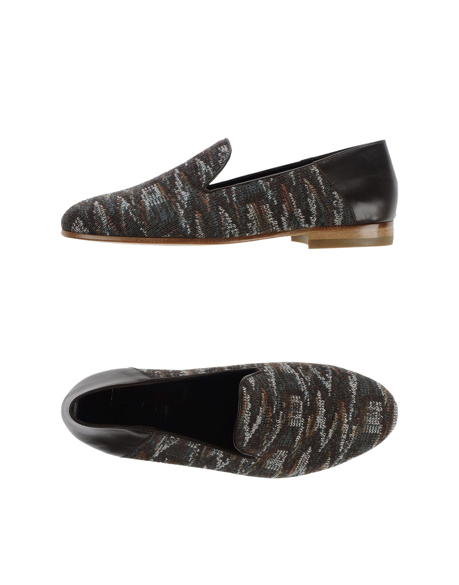 missoni loafer in brown for lyst