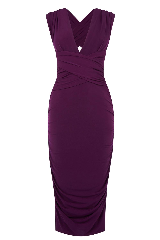 de56717fda32 Oasis Wear It Your Way Pencil Dress in Purple - Lyst