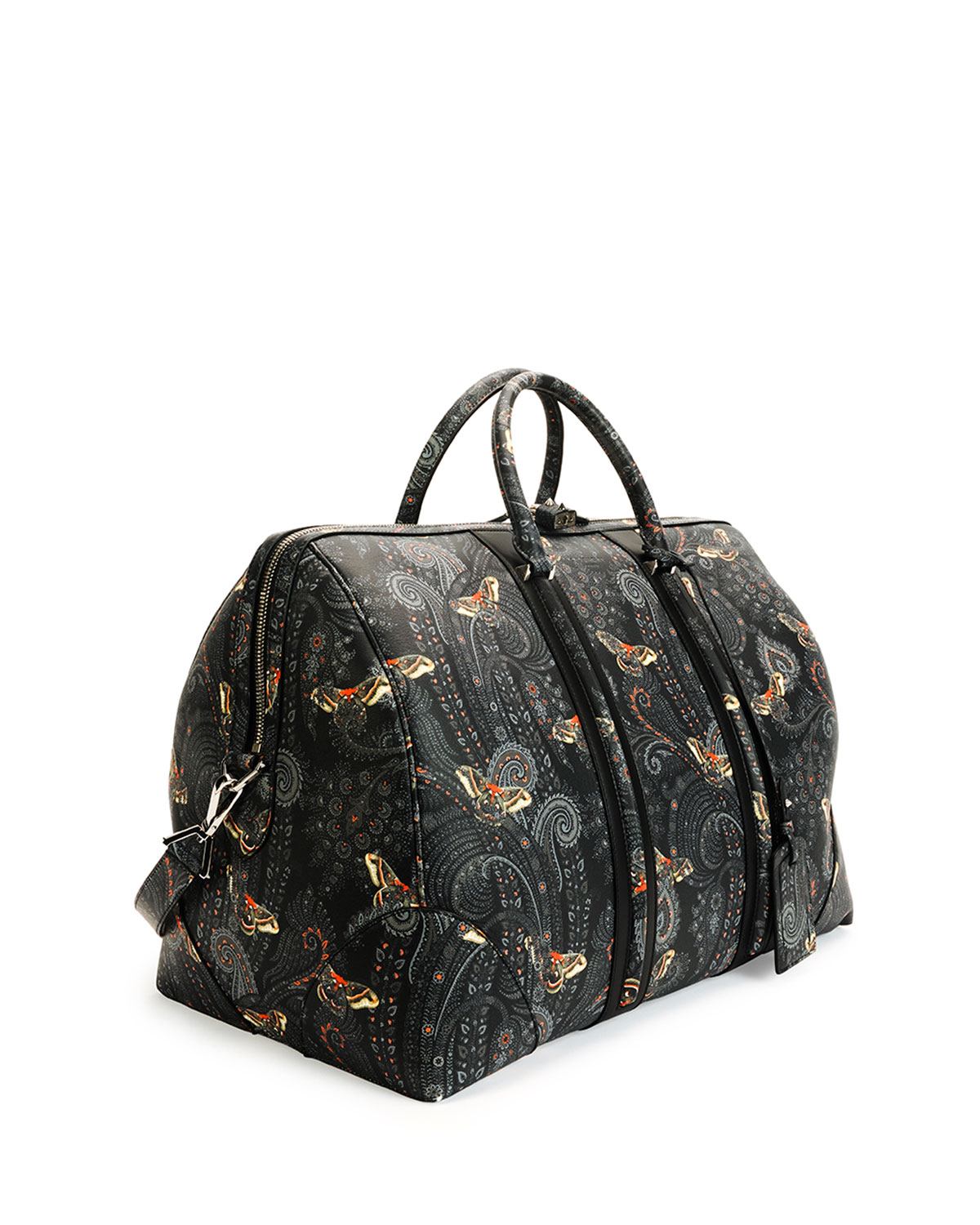 b2eb3b7071 Givenchy Paisley-Print Leather Weekender Bag in Black for Men - Lyst